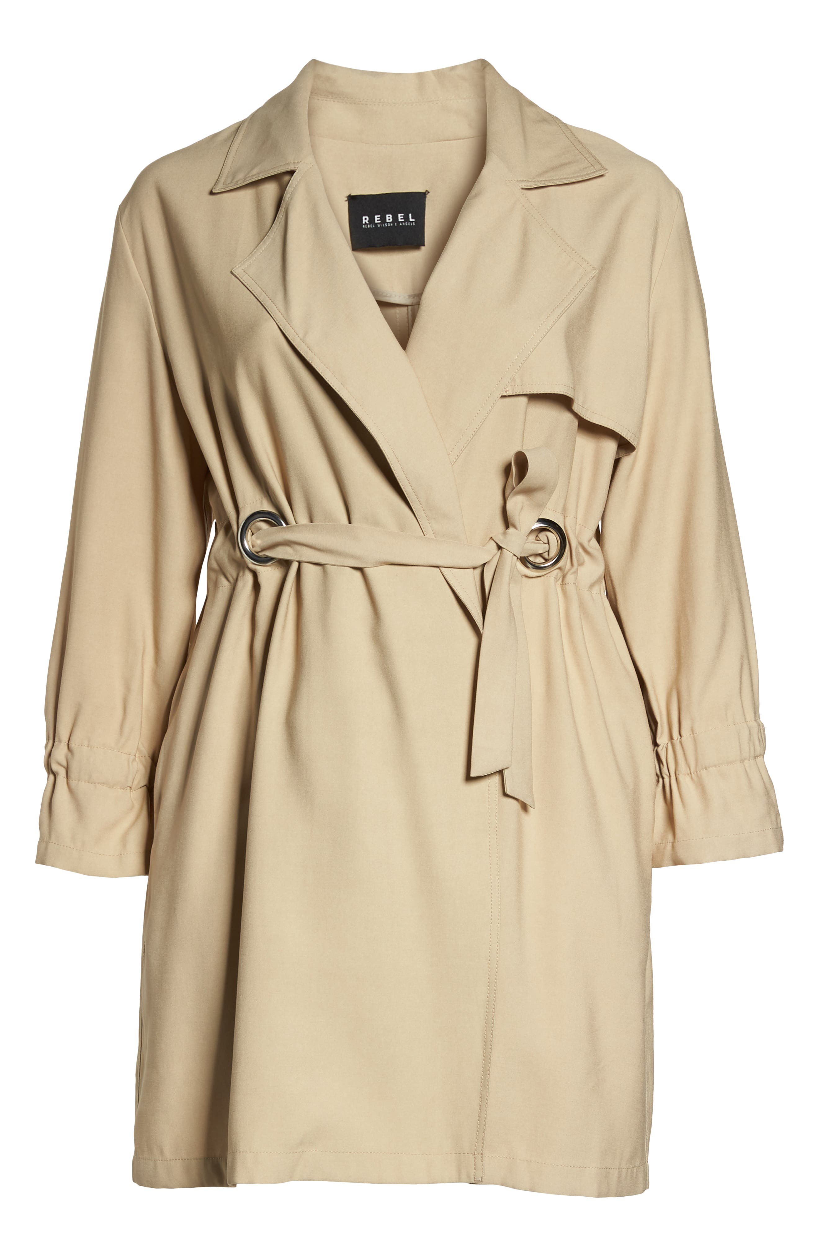 REBEL WILSON X ANGELS,                             Draped Trench Jacket,                             Alternate thumbnail 5, color,                             251