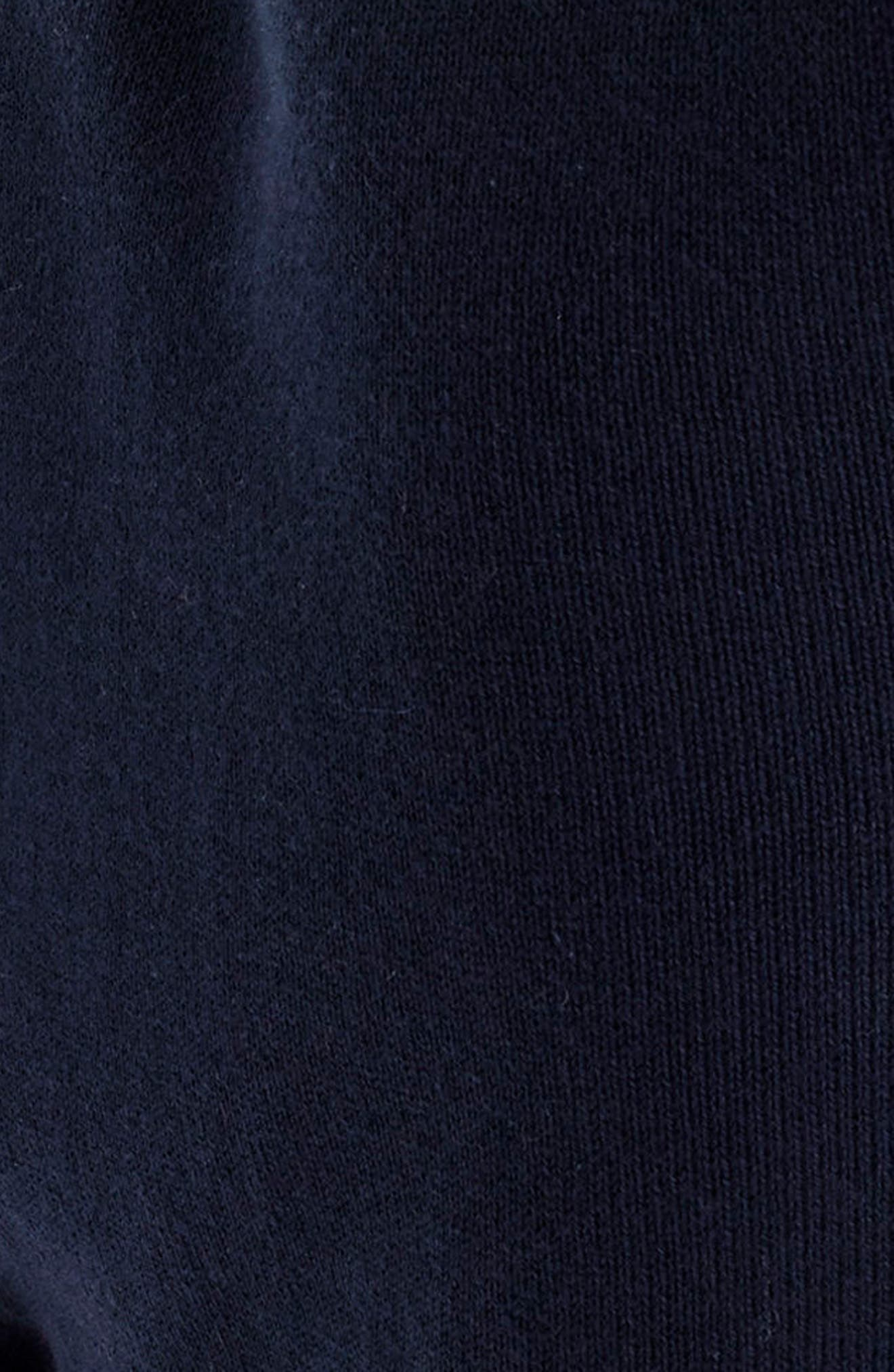 Ruffle V-Neck Sweater,                             Alternate thumbnail 4, color,