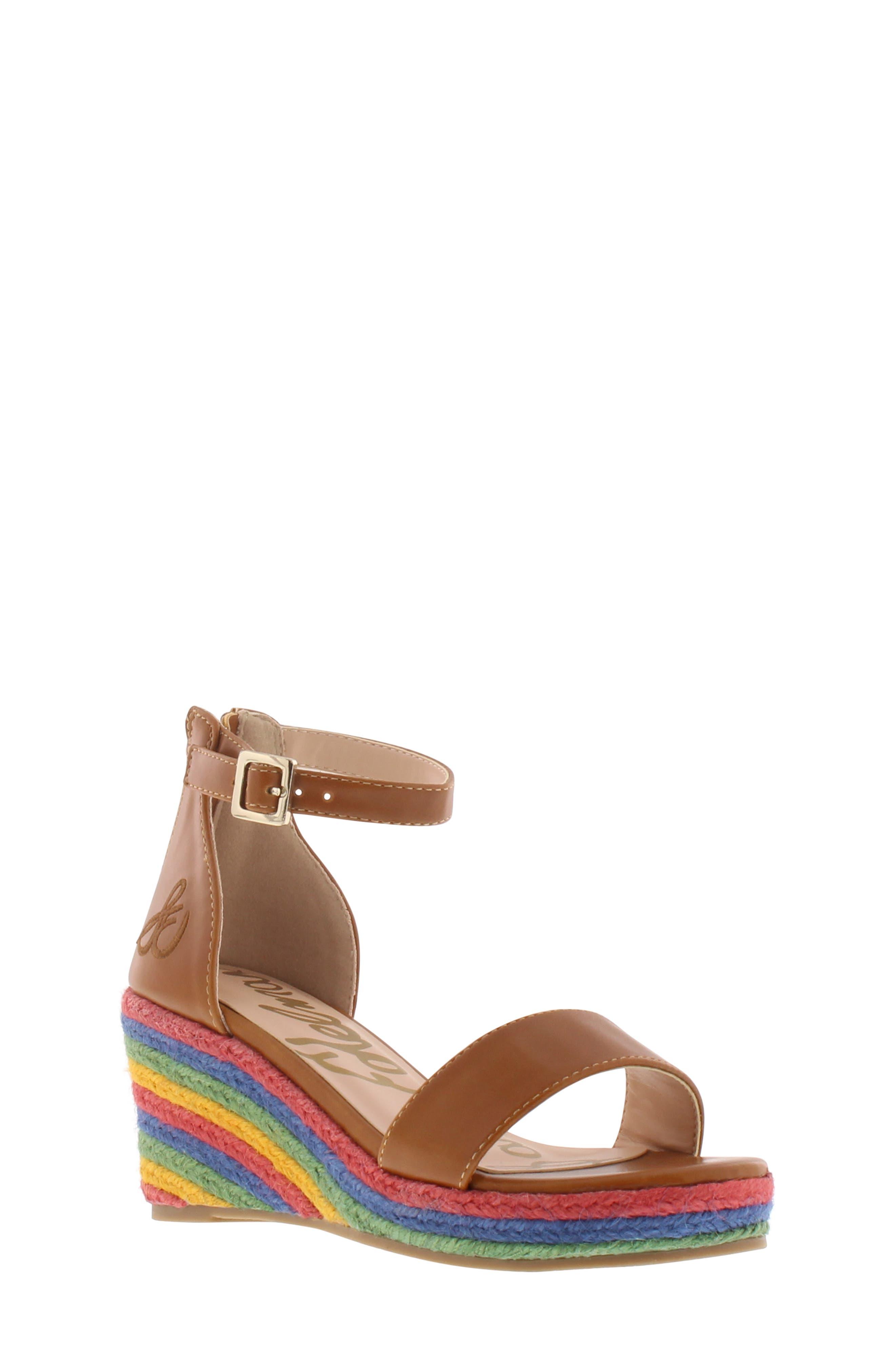 Azalia Ray Wedge Sandal, Main, color, SADDLE
