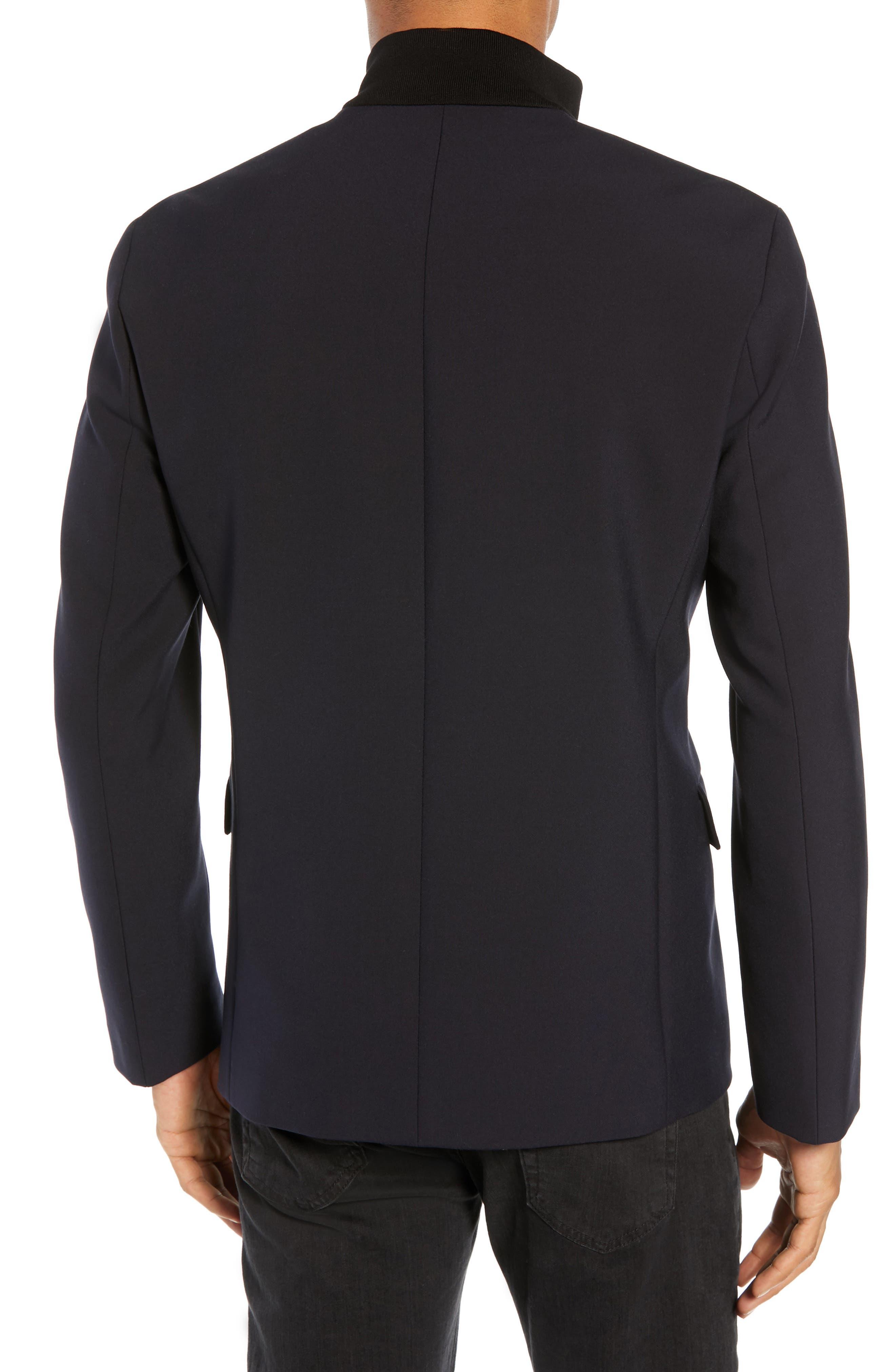 Janno Slim Zip Front Sport Coat,                             Alternate thumbnail 2, color,                             BLUE