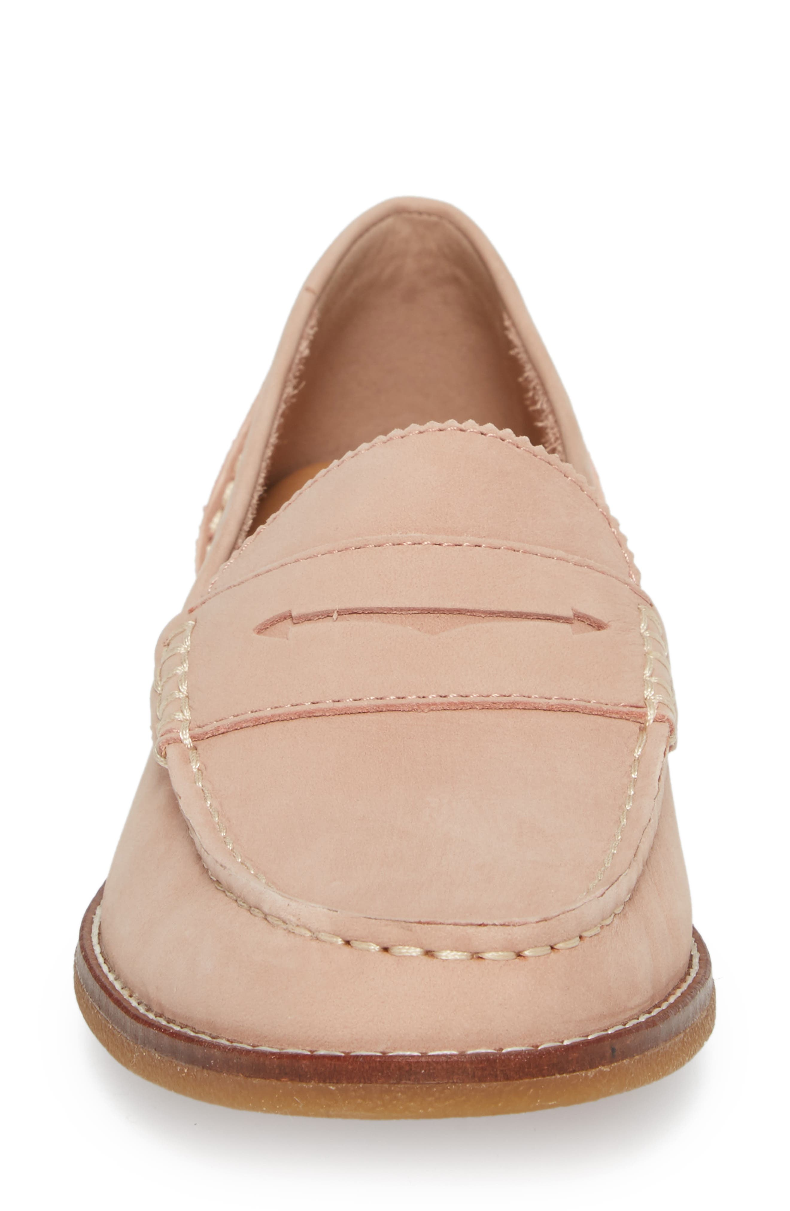 Seaport Penny Loafer,                             Alternate thumbnail 4, color,                             ROSE DUST LEATHER