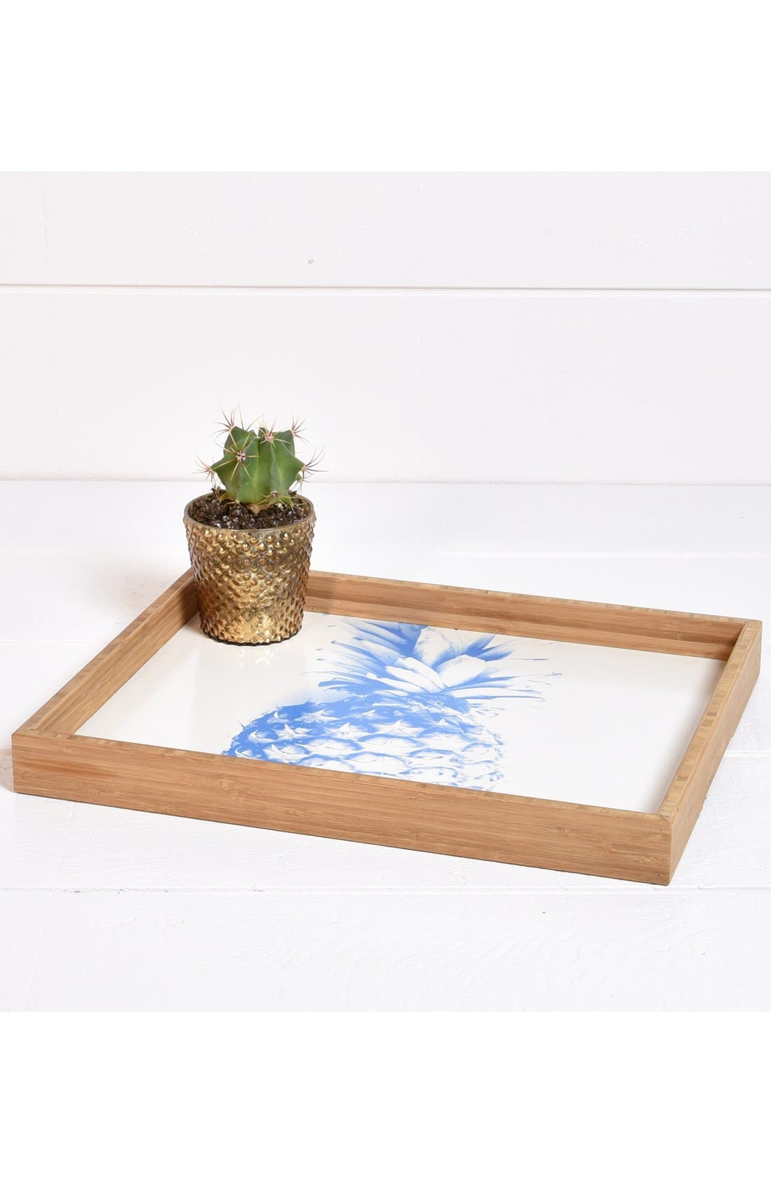 'Pineapple' Decorative Serving Tray,                             Alternate thumbnail 4, color,                             400