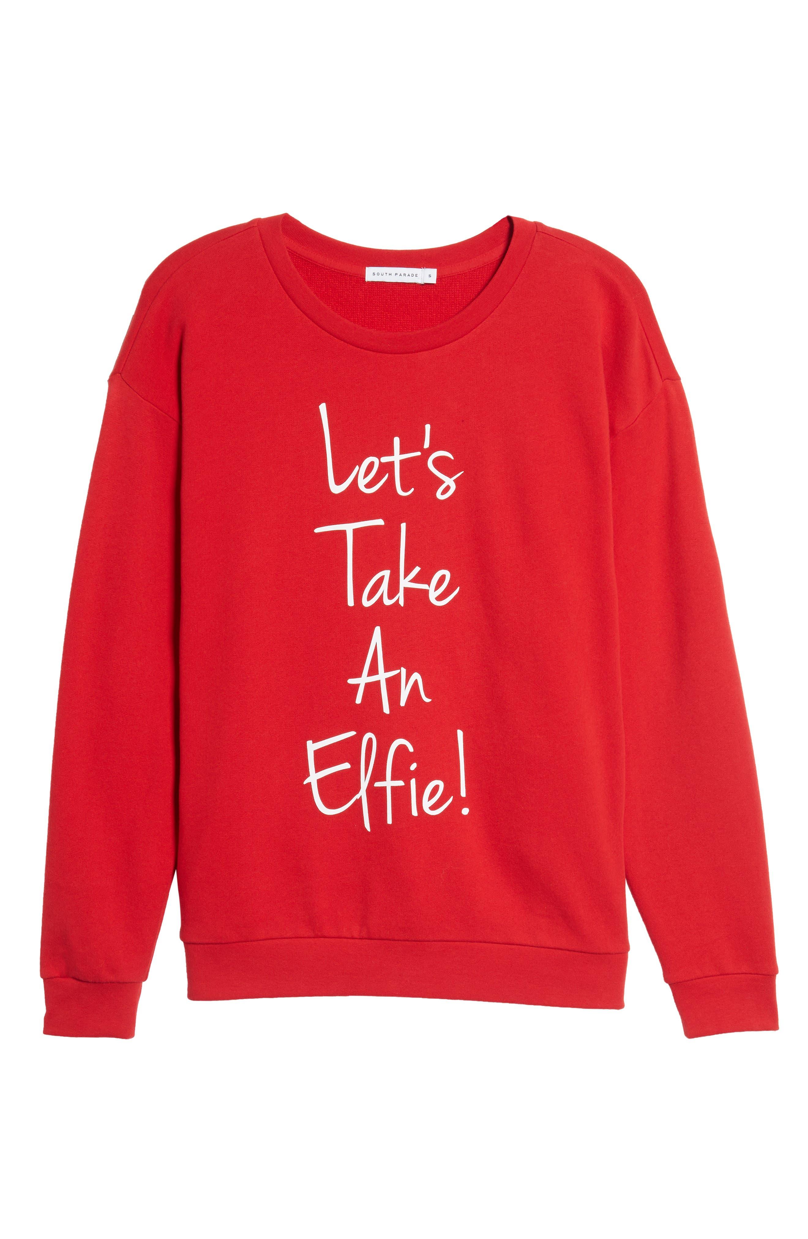Let's Take an Elfie Sweatshirt,                             Alternate thumbnail 6, color,                             600