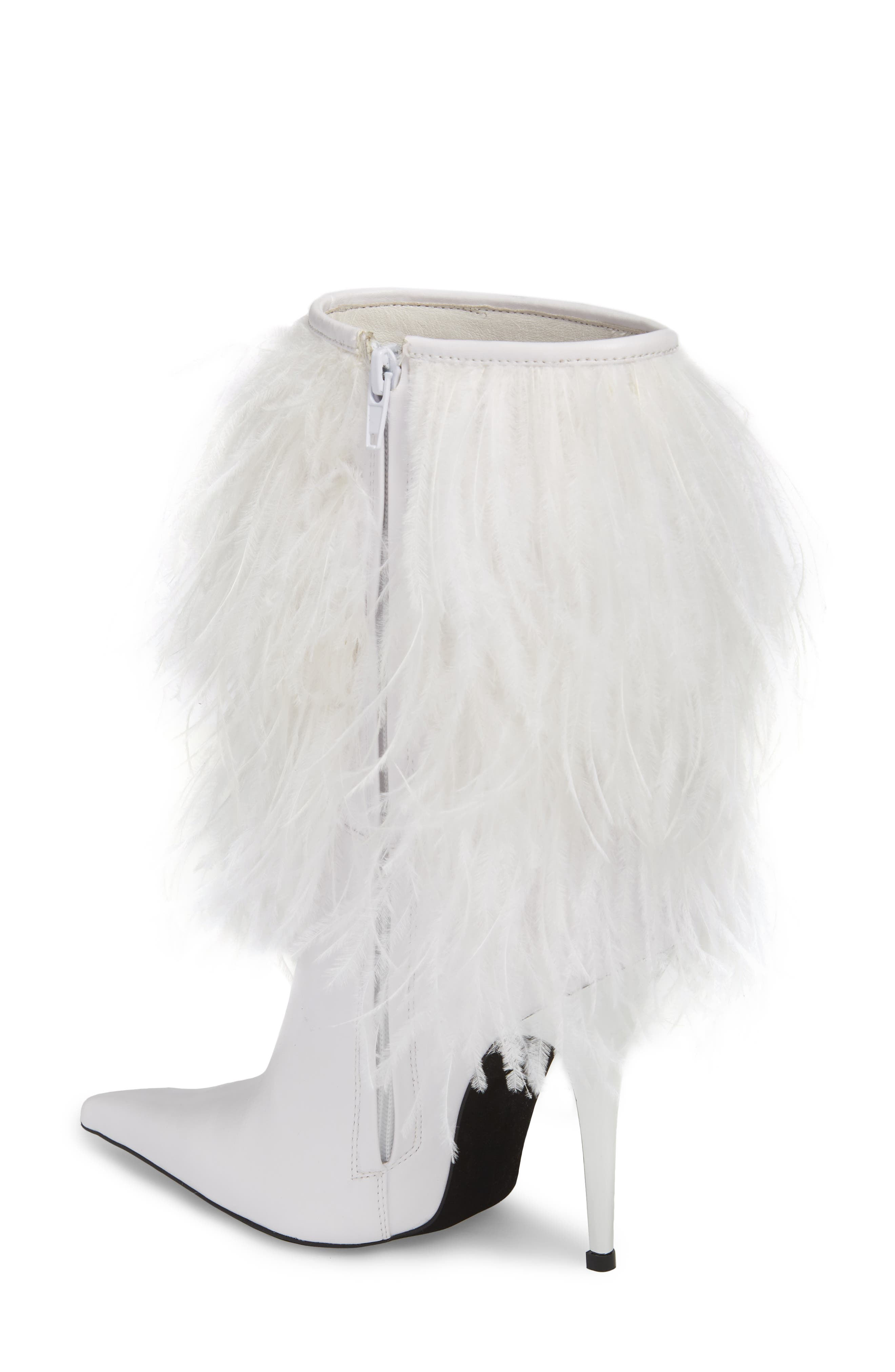 Fly4U Ostrich Feather Bootie,                             Alternate thumbnail 2, color,                             111