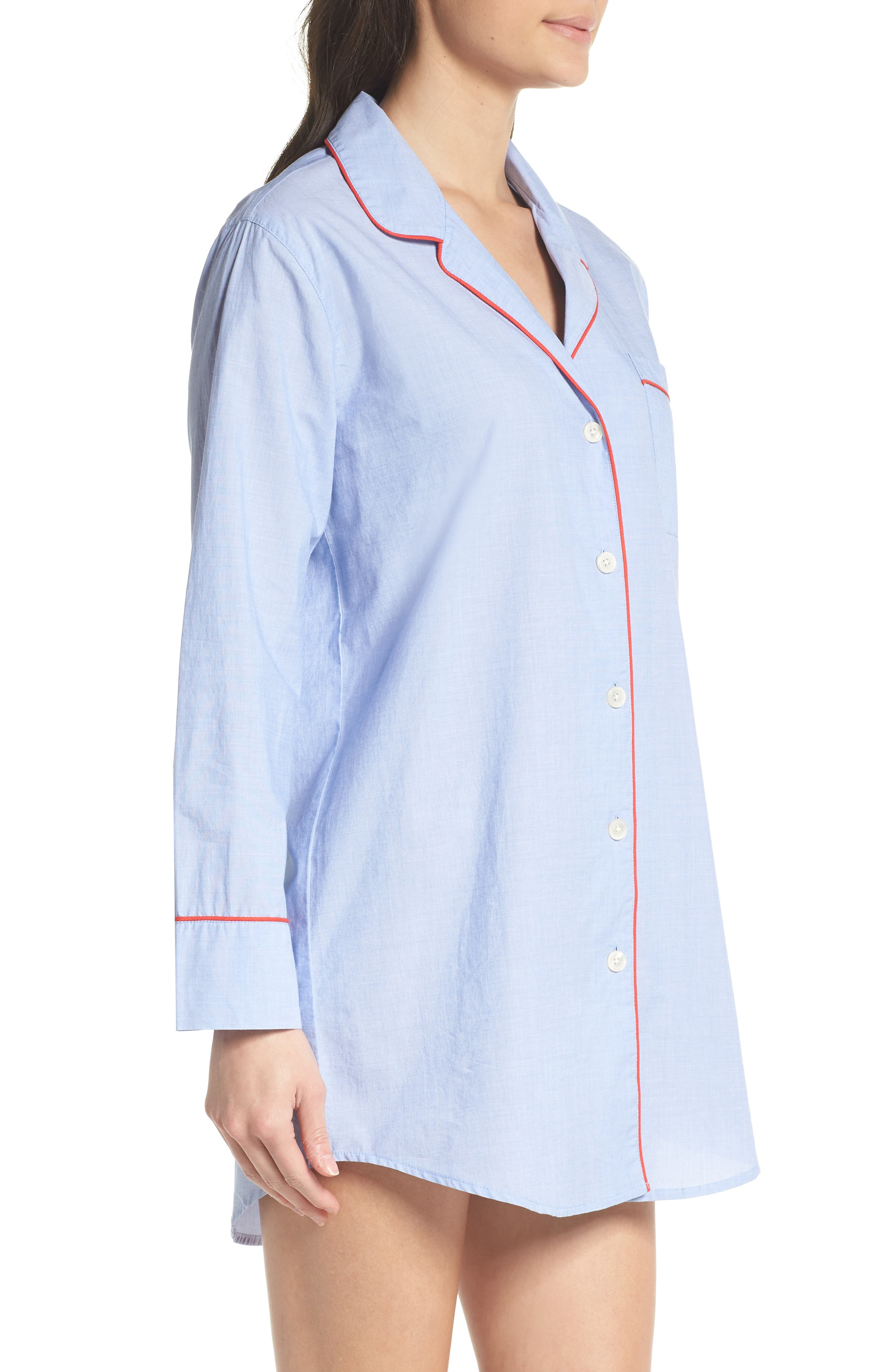 Woven Nightshirt,                             Alternate thumbnail 3, color,