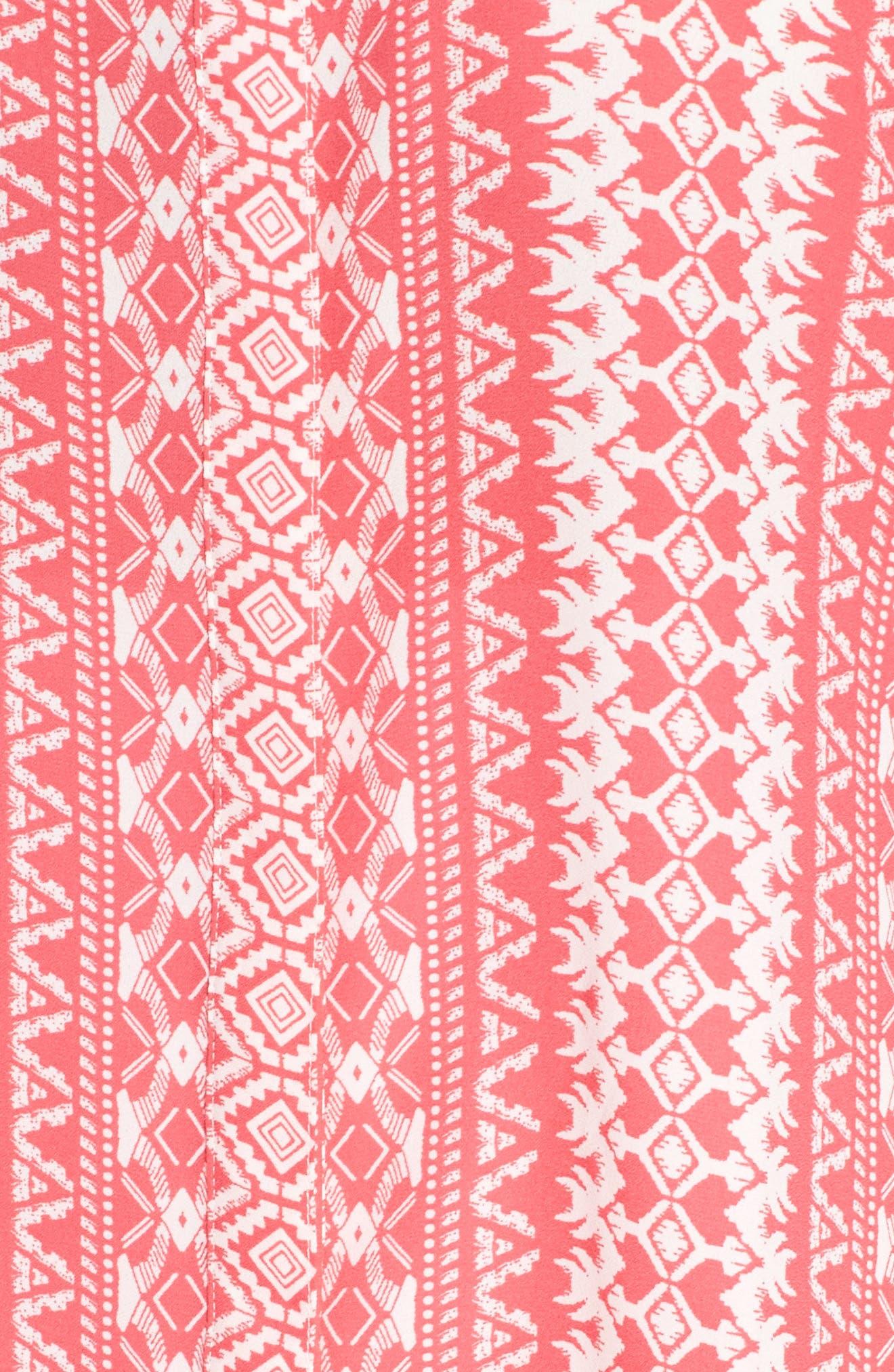 Island Geo Sleeveless Blouse,                             Alternate thumbnail 5, color,