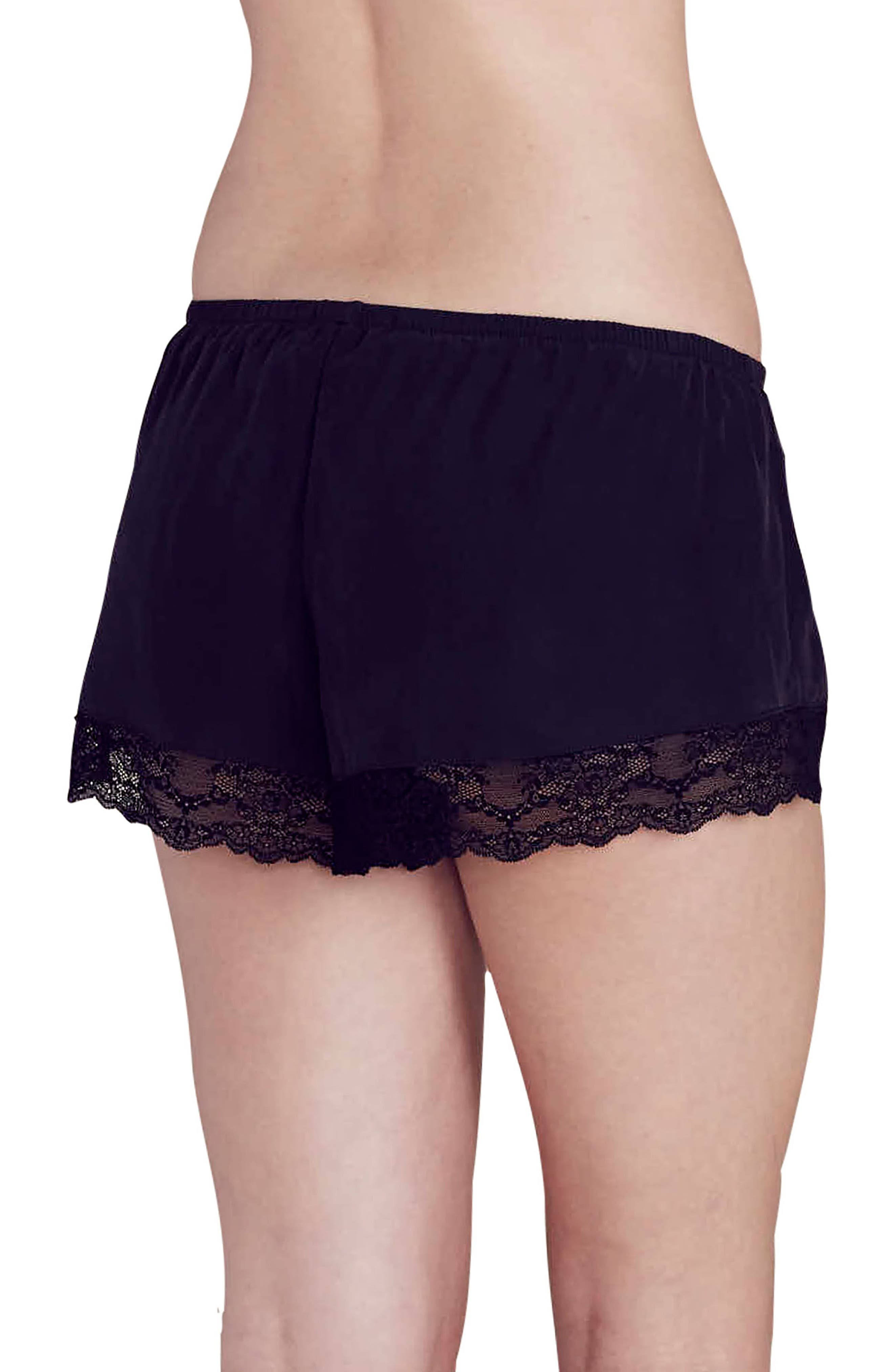 x Rebecca Taylor Lou Silk Shorts,                             Alternate thumbnail 3, color,