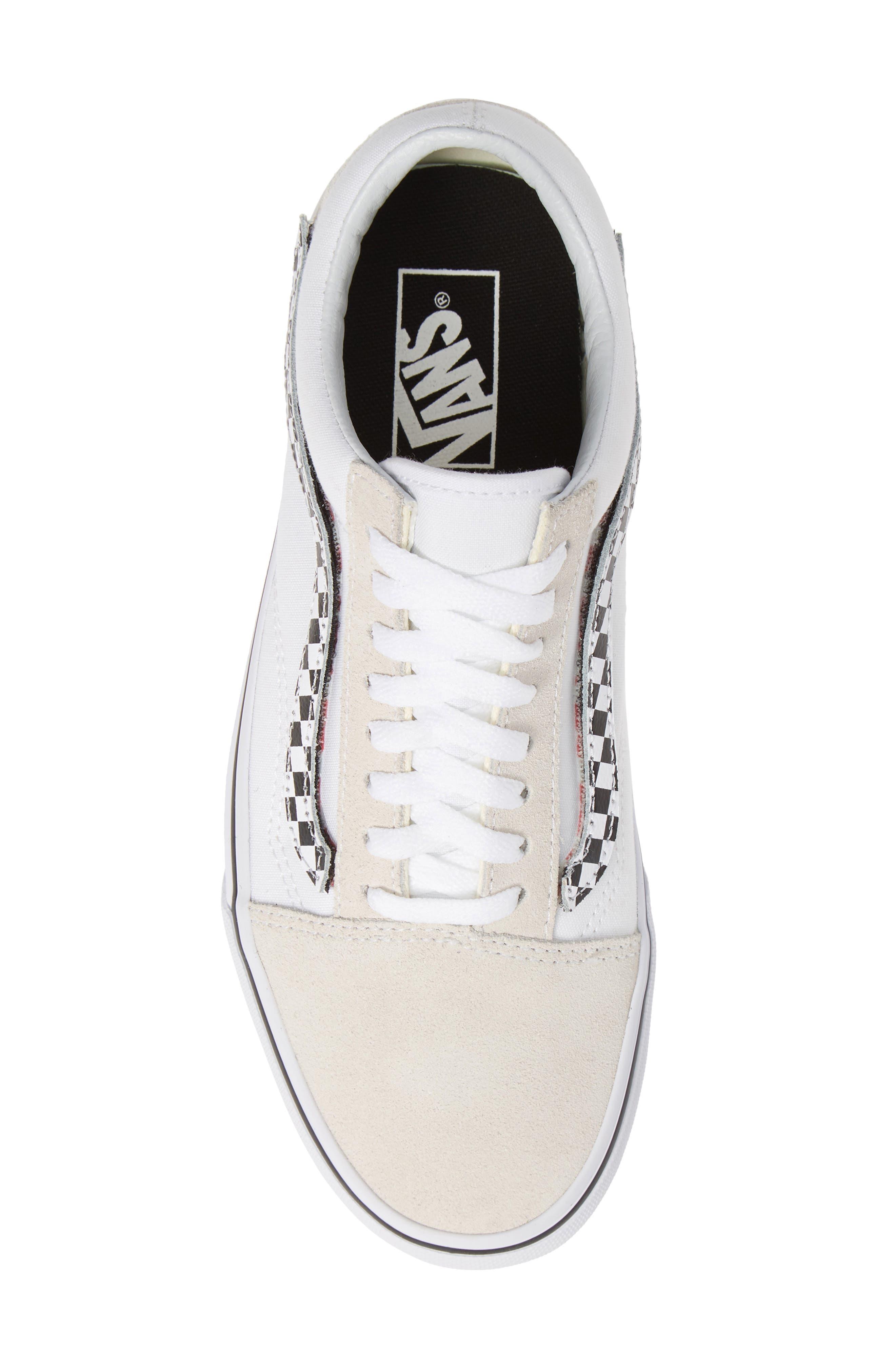 VANS,                             Old Skool Sneaker,                             Alternate thumbnail 5, color,                             TRUE WHITE/ TRUE WHITE