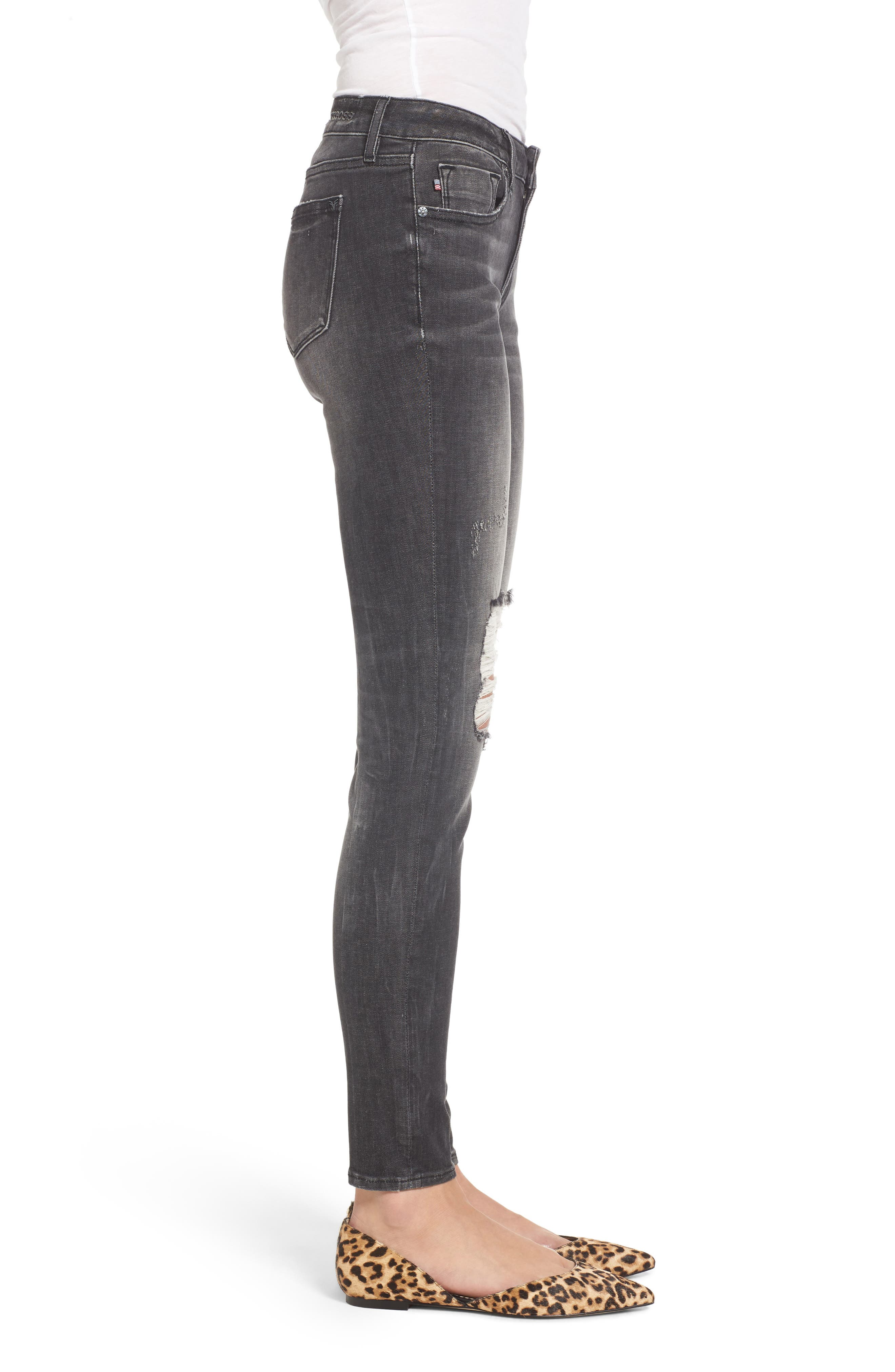 Jagger Ripped Skinny Jeans,                             Alternate thumbnail 3, color,                             020