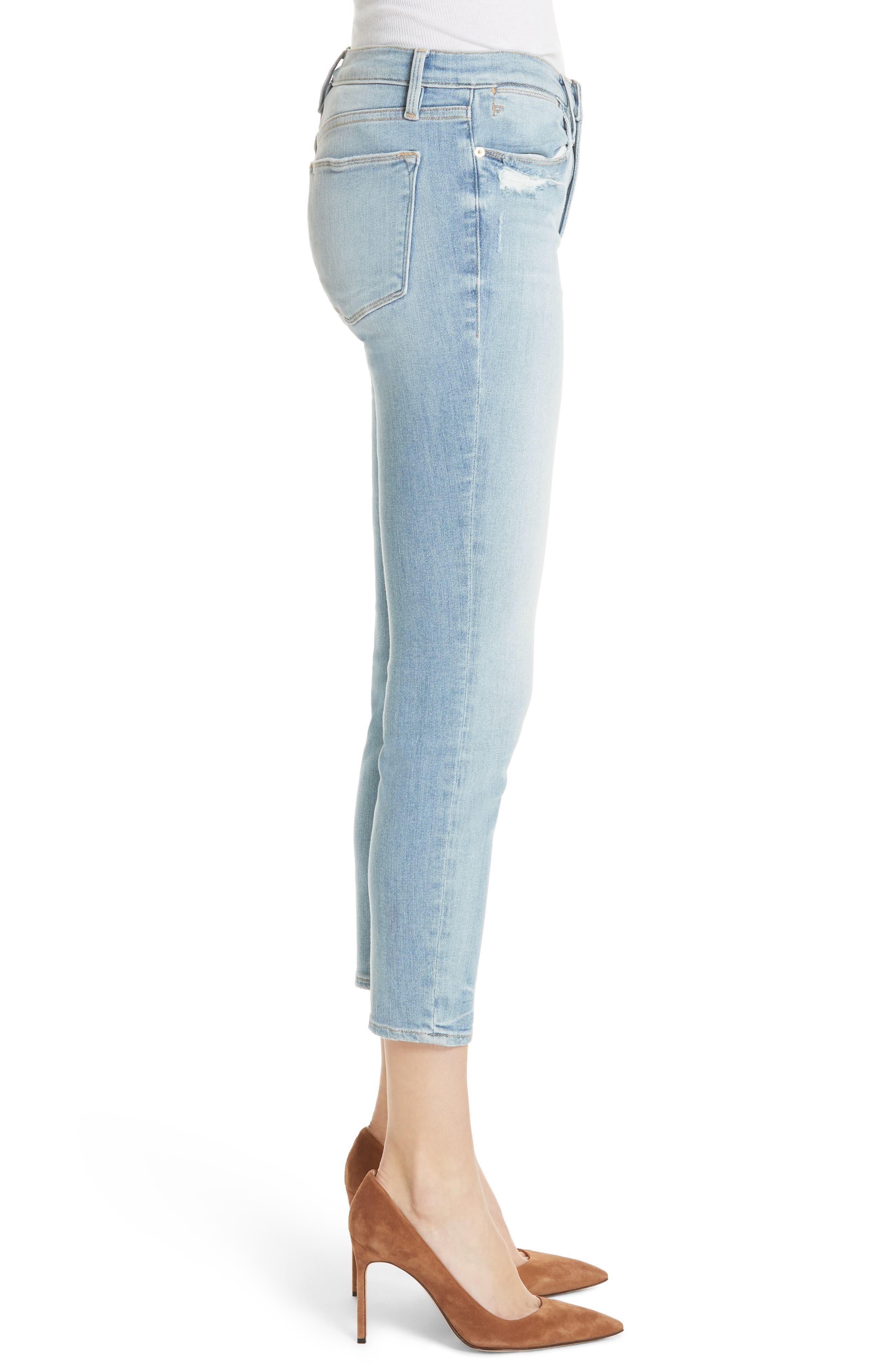 Le High Skinny Jeans,                             Alternate thumbnail 3, color,                             450