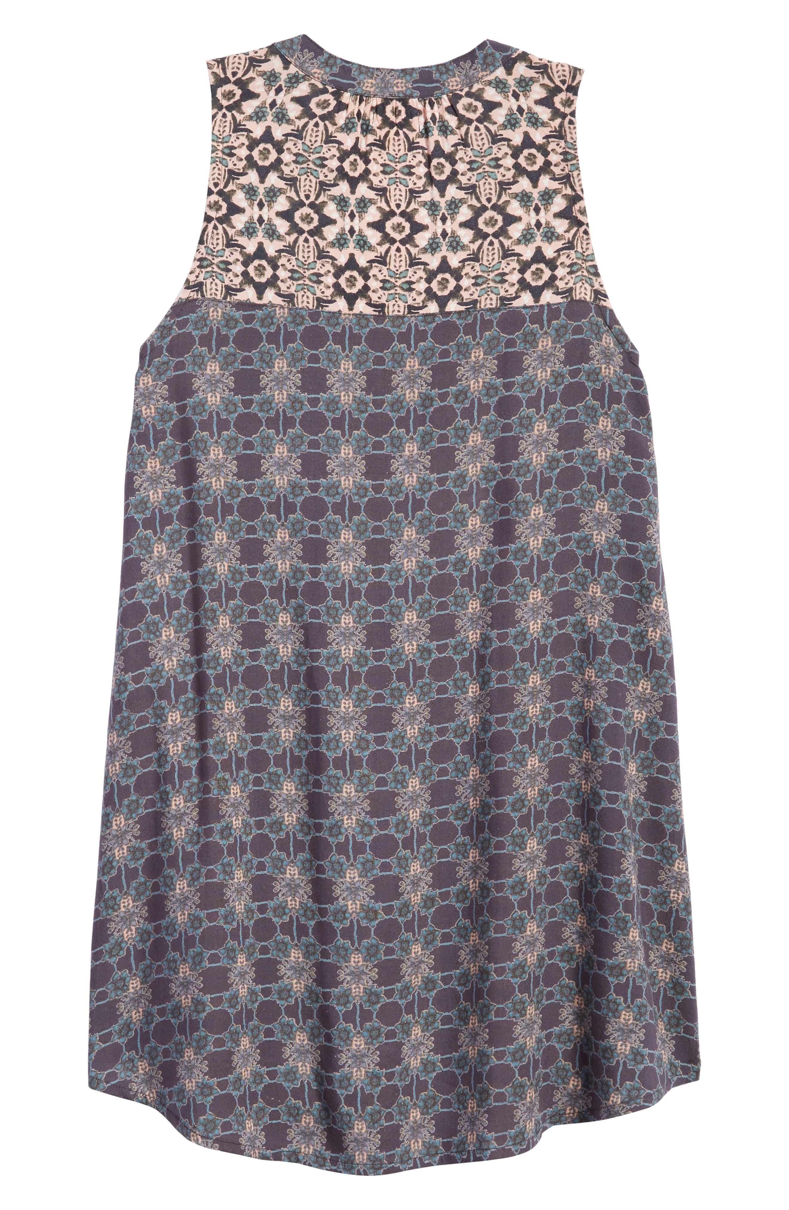 Gina Mixed Print Dress,                             Alternate thumbnail 2, color,                             021