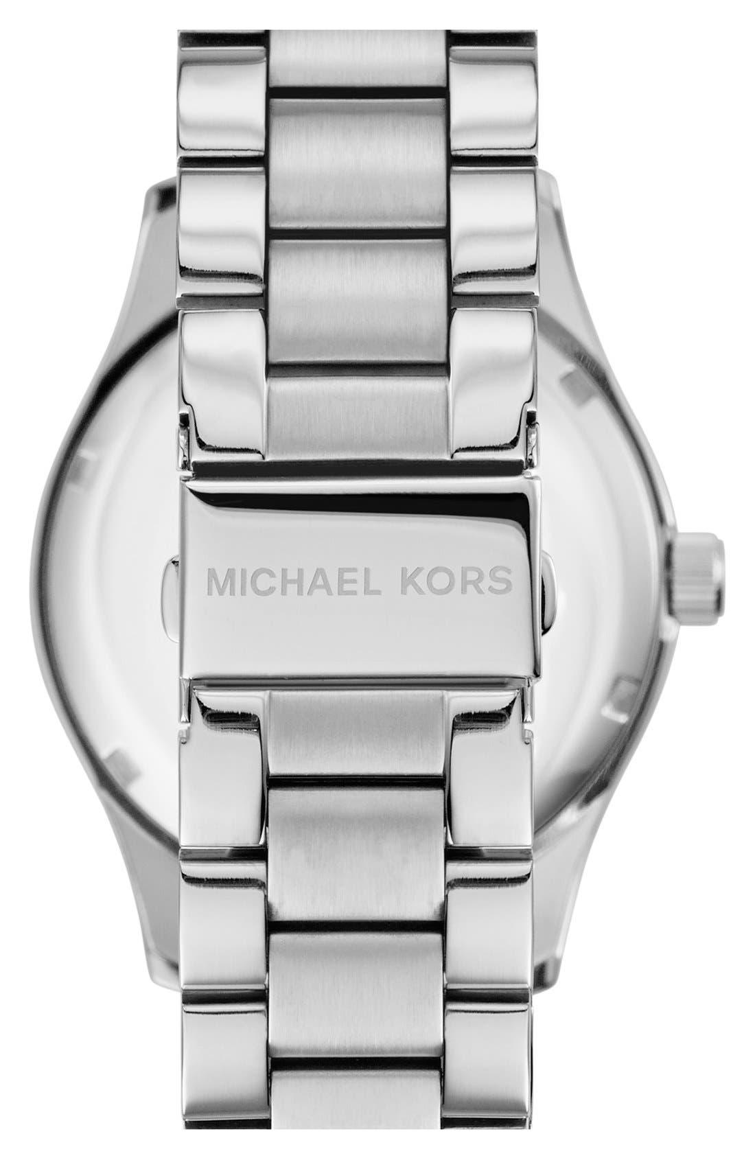 Michael Kors 'Layton' Pavé Dial Bracelet Watch, 44mm,                             Alternate thumbnail 3, color,                             040