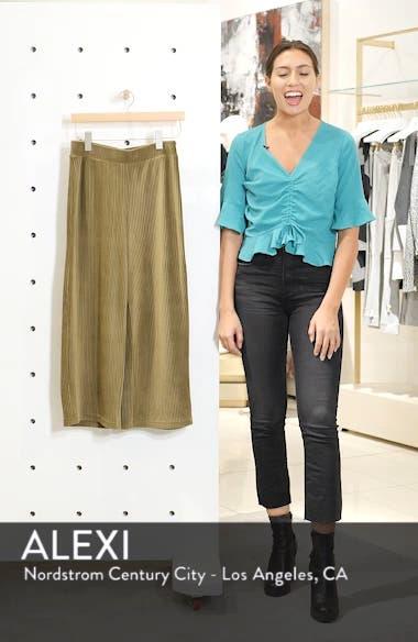 High Rise Knit Corduroy Crop Pants, sales video thumbnail