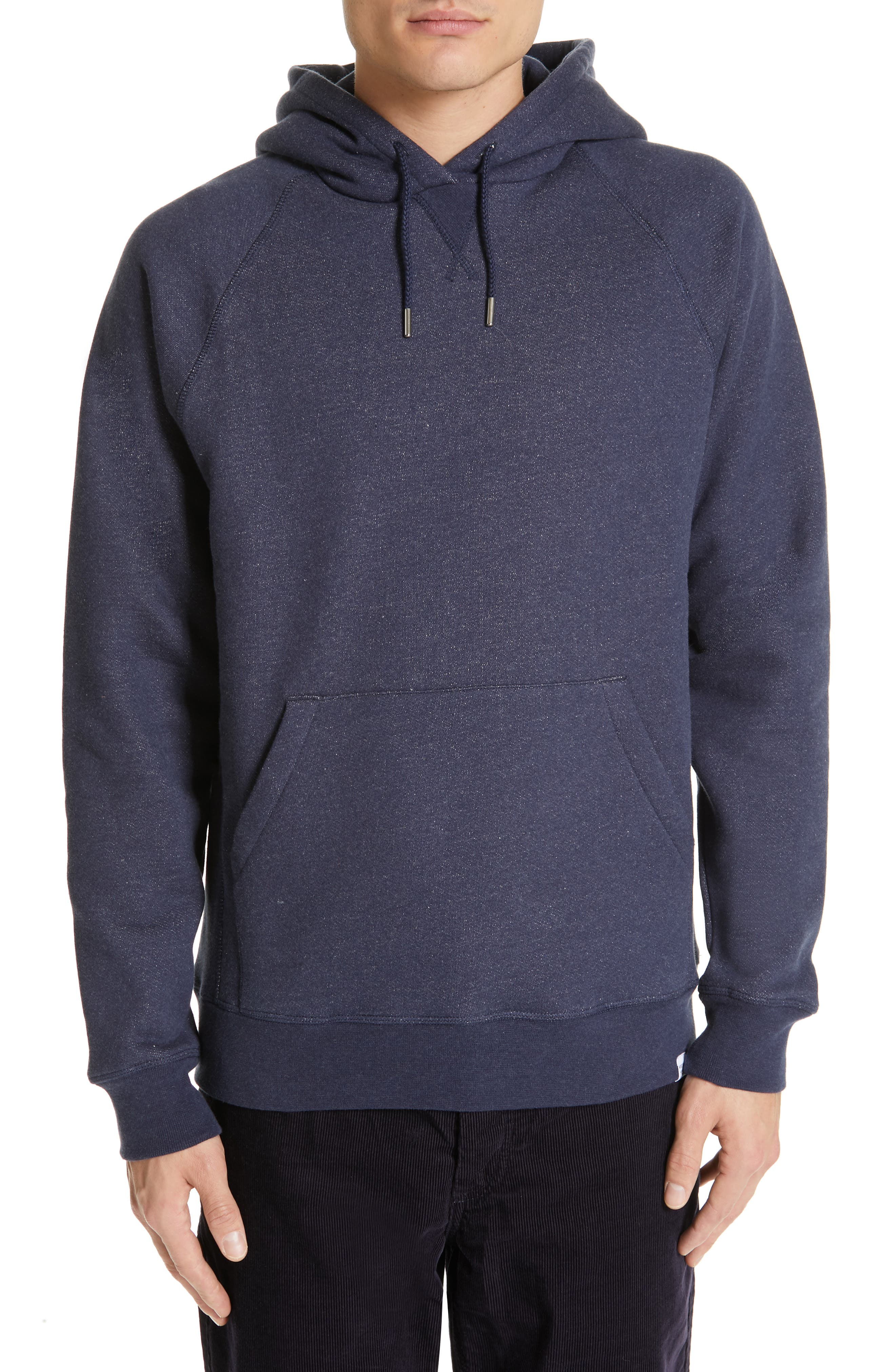 NORSE PROJECTS Ketel Hoodie, Main, color, DARK NAVY