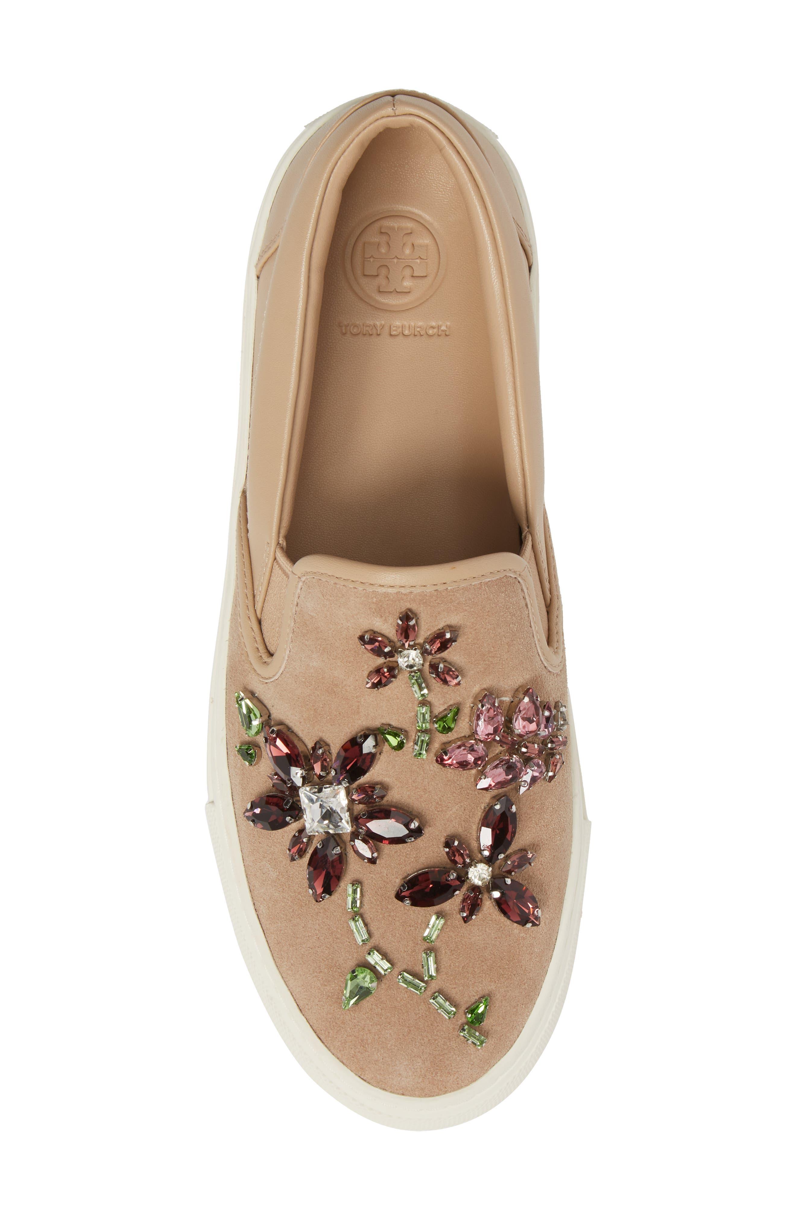 Meadow Embellished Slip-On Sneaker,                             Alternate thumbnail 5, color,                             254
