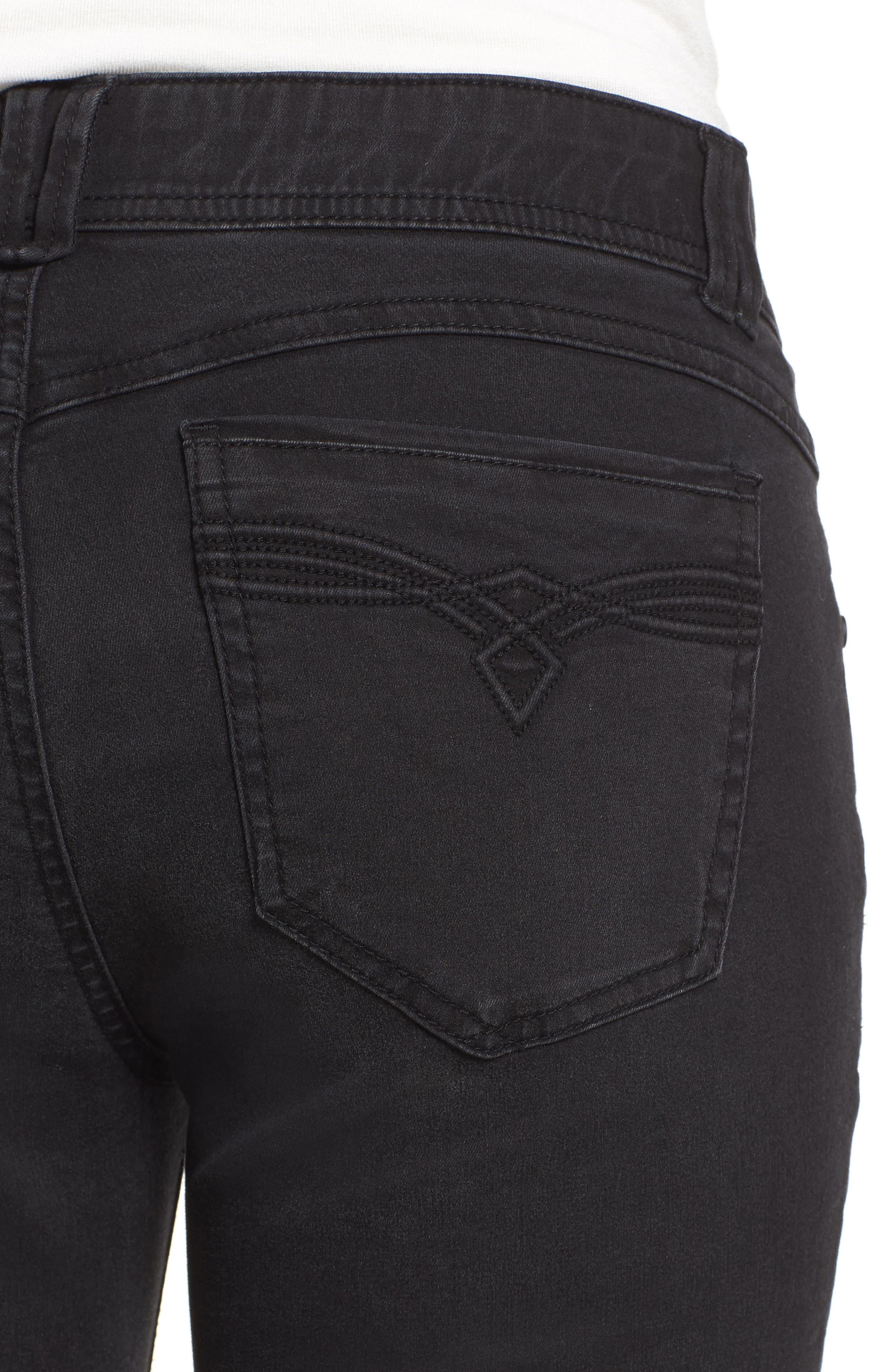 Ab-solution Itty Bitty Bootcut Jeans,                             Alternate thumbnail 4, color,                             BK- BLACK
