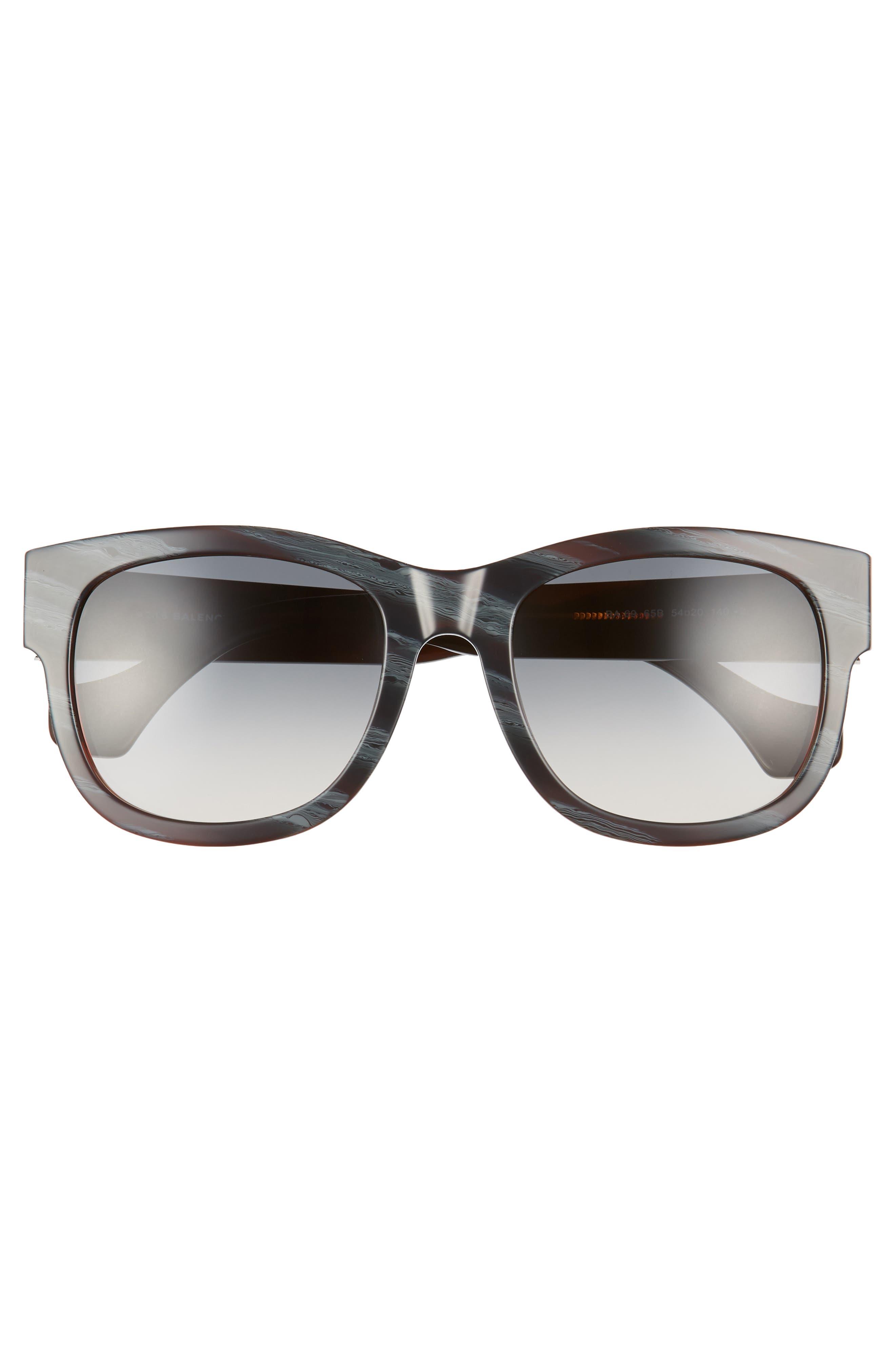 54mm Retro Sunglasses,                             Alternate thumbnail 3, color,                             400