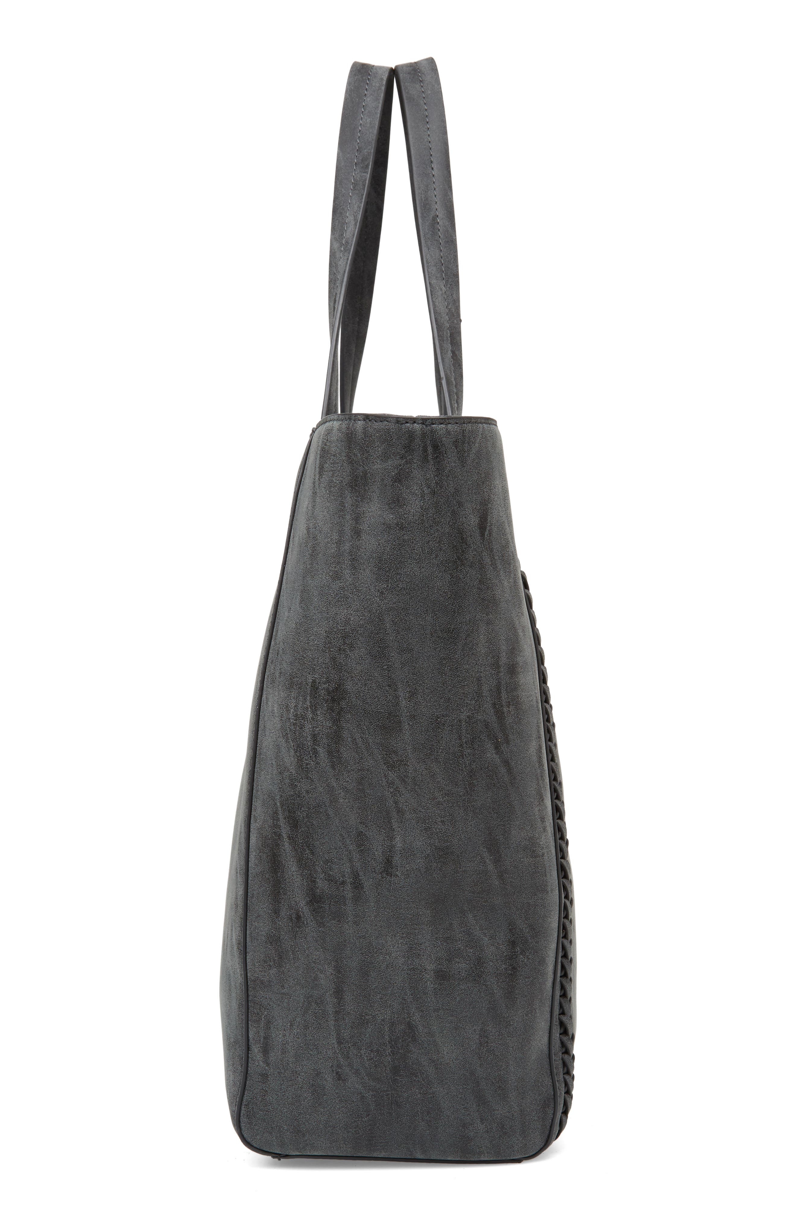 Penny Faux Leather Tote,                             Alternate thumbnail 5, color,                             001