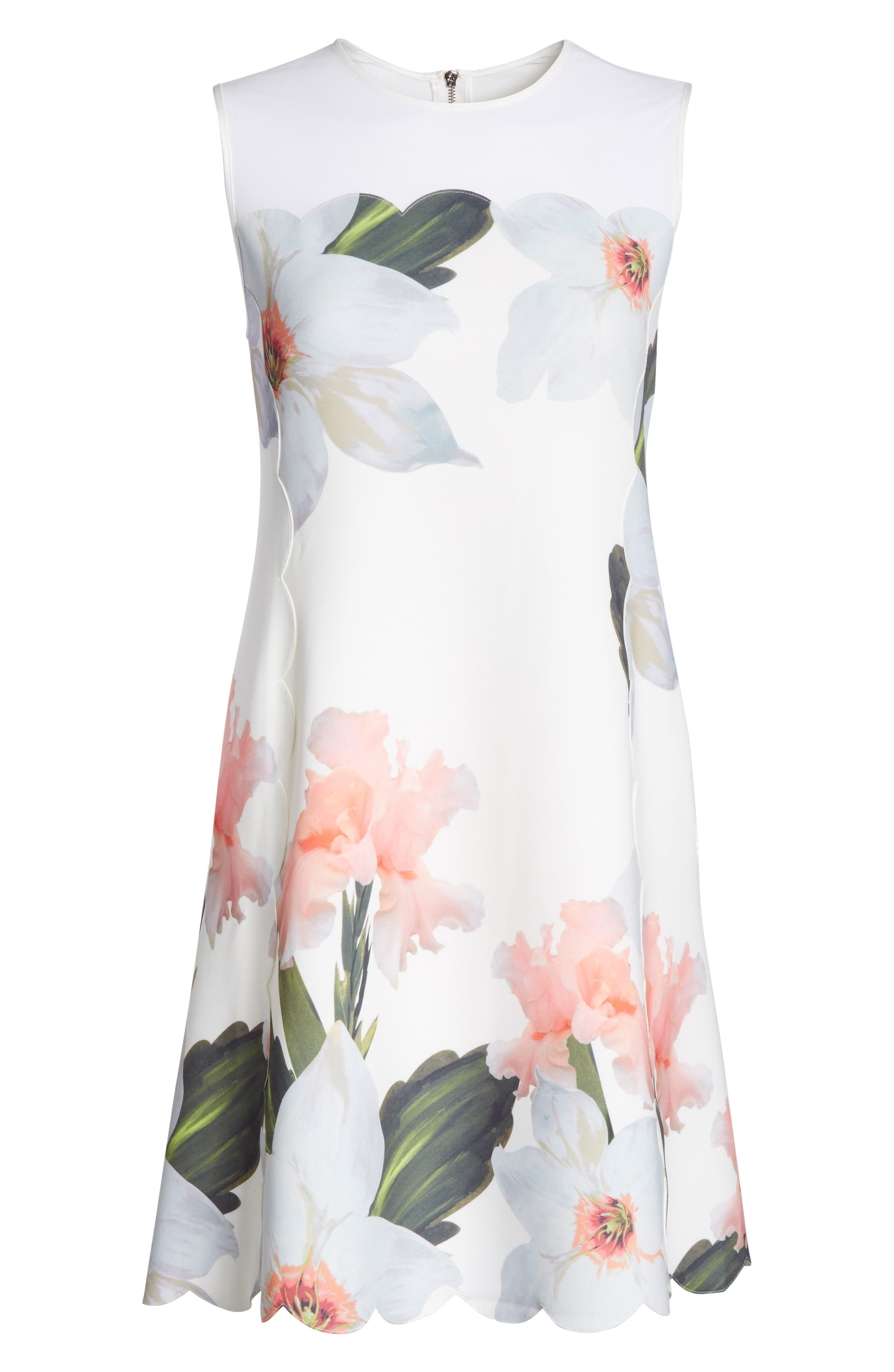 Chatsworth Bloom Tunic Dress,                             Alternate thumbnail 6, color,                             110