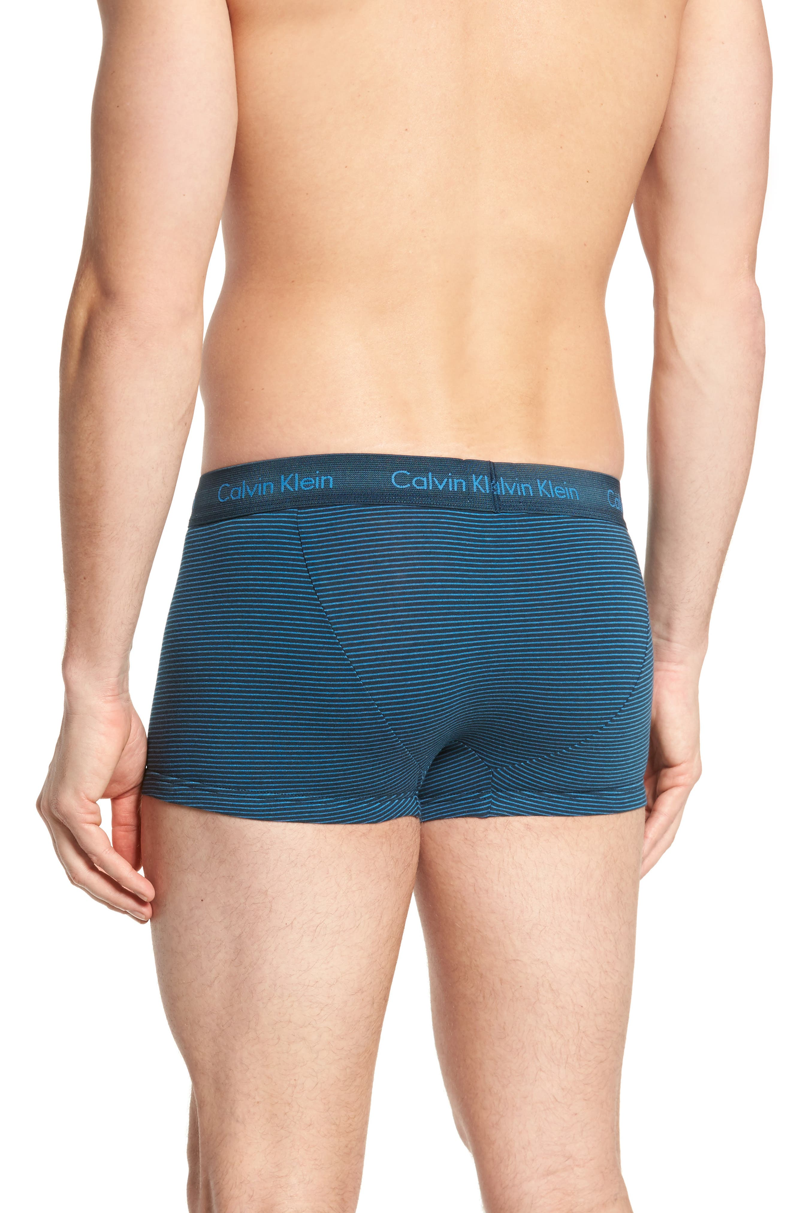 3-Pack Stretch Cotton Low Rise Trunks,                             Alternate thumbnail 3, color,                             BLUE/ SPELLBOUND/ FERVENT