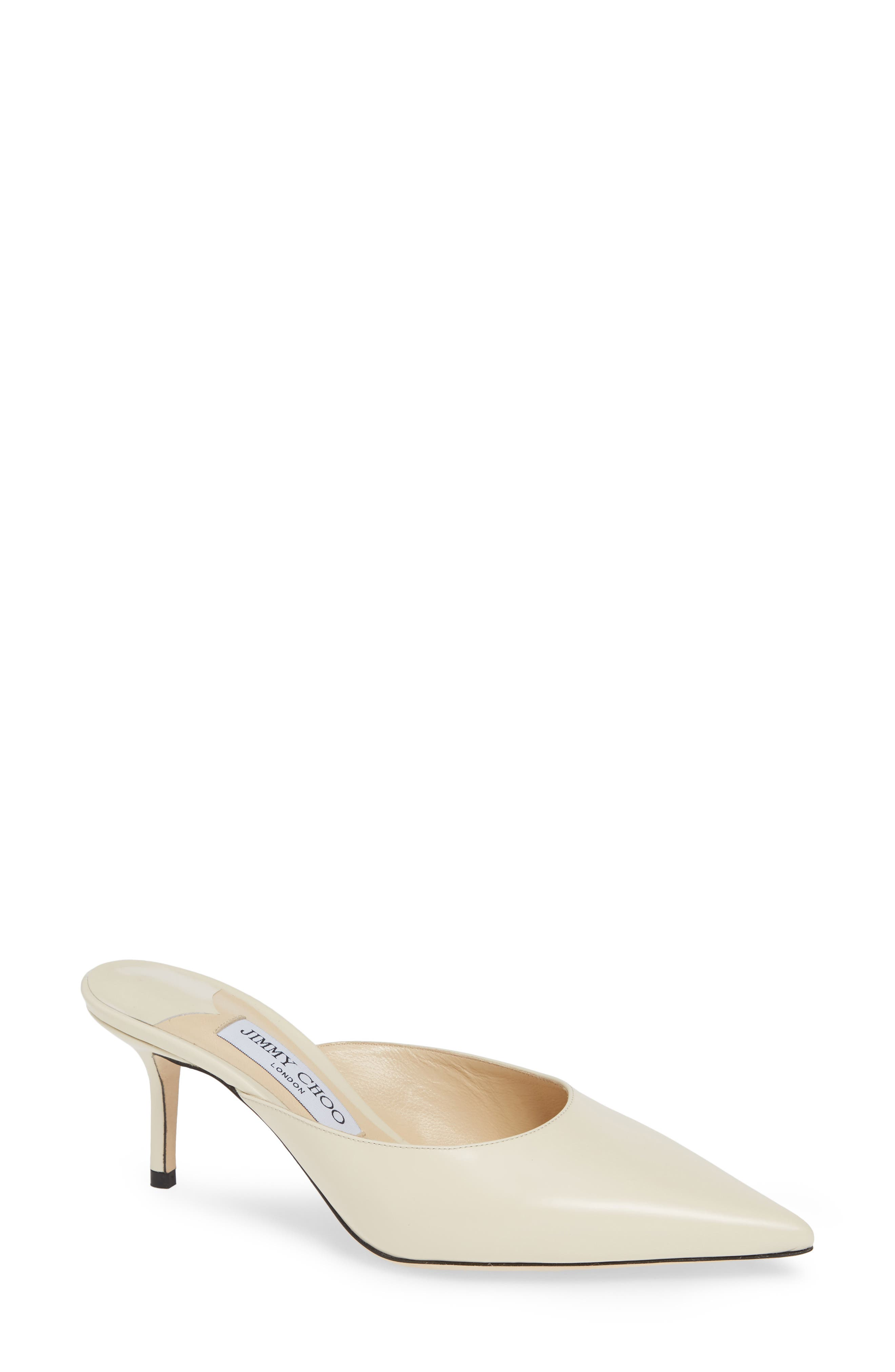 Women'S Rav 65 Pointed-Toe High-Heel Mules in Linen