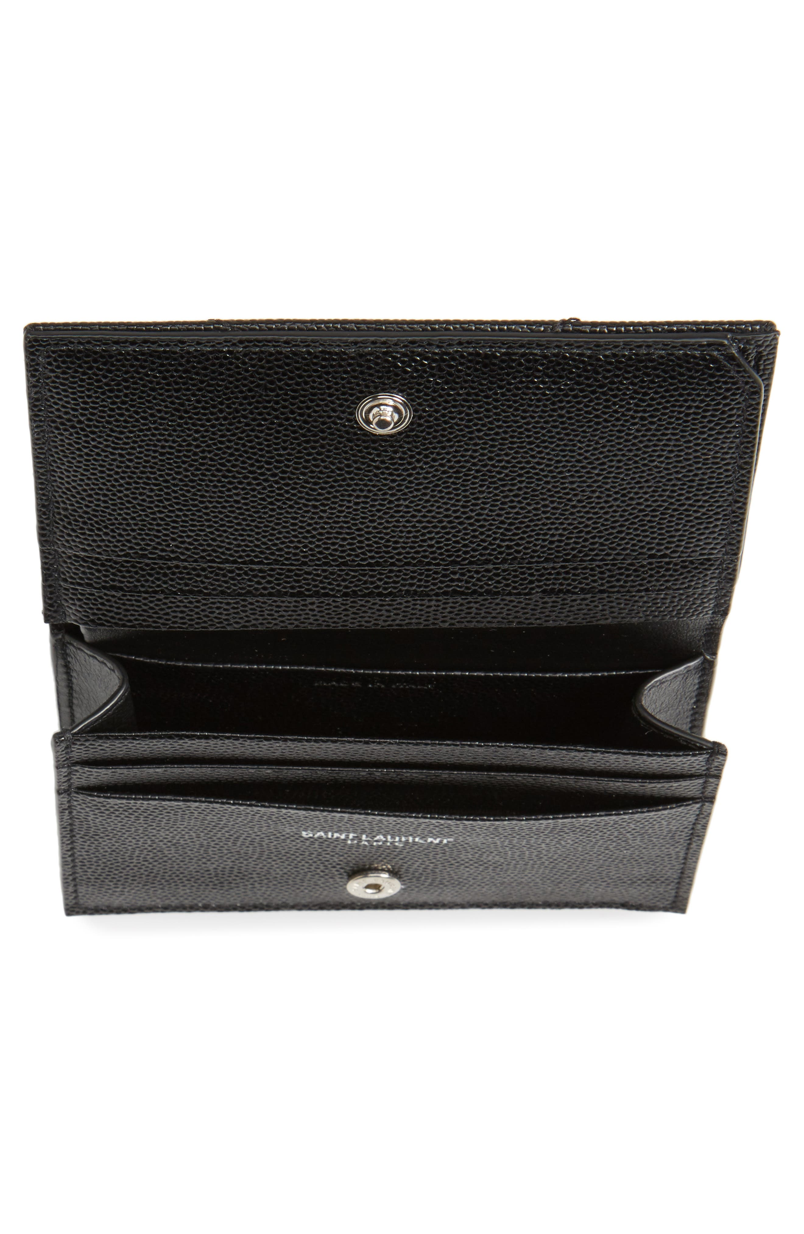 Textured Leather Card Case,                             Alternate thumbnail 2, color,                             001