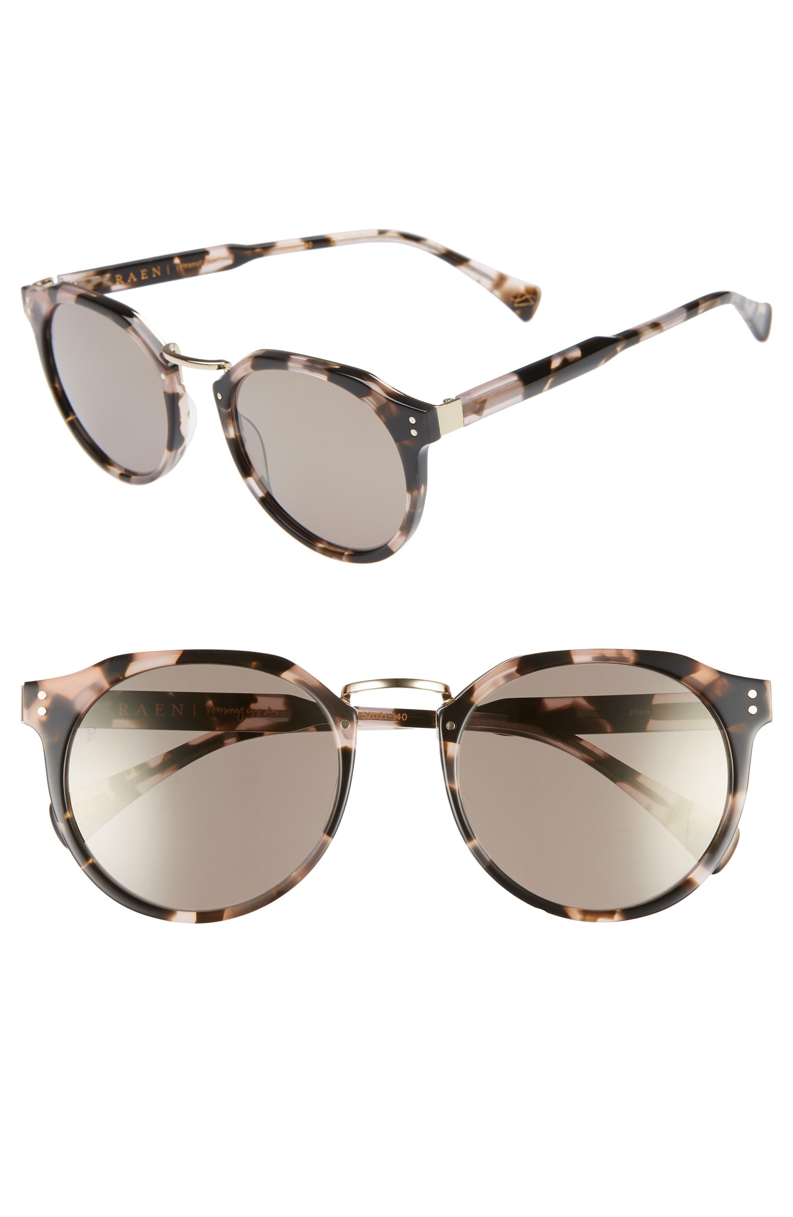 Remmy 52mm Sunglasses,                             Main thumbnail 1, color,                             PLUM WINE