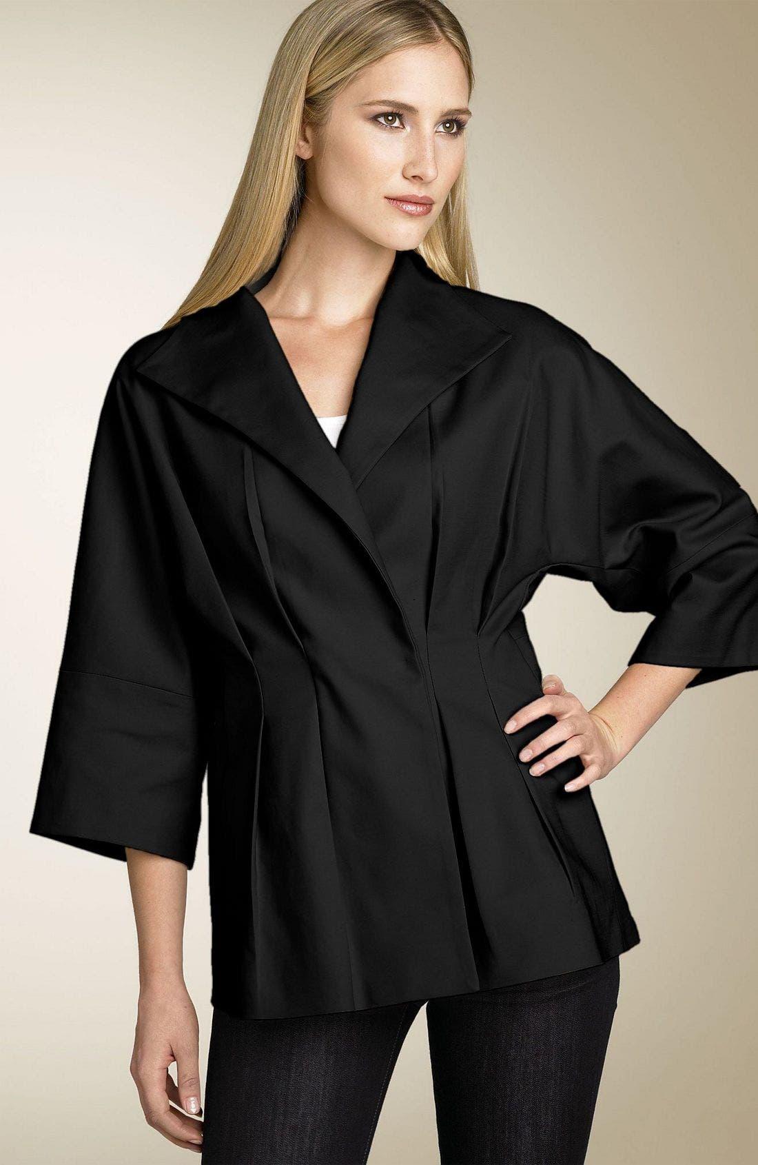 CALVIN KLEIN Kimono Jacket, Main, color, 001