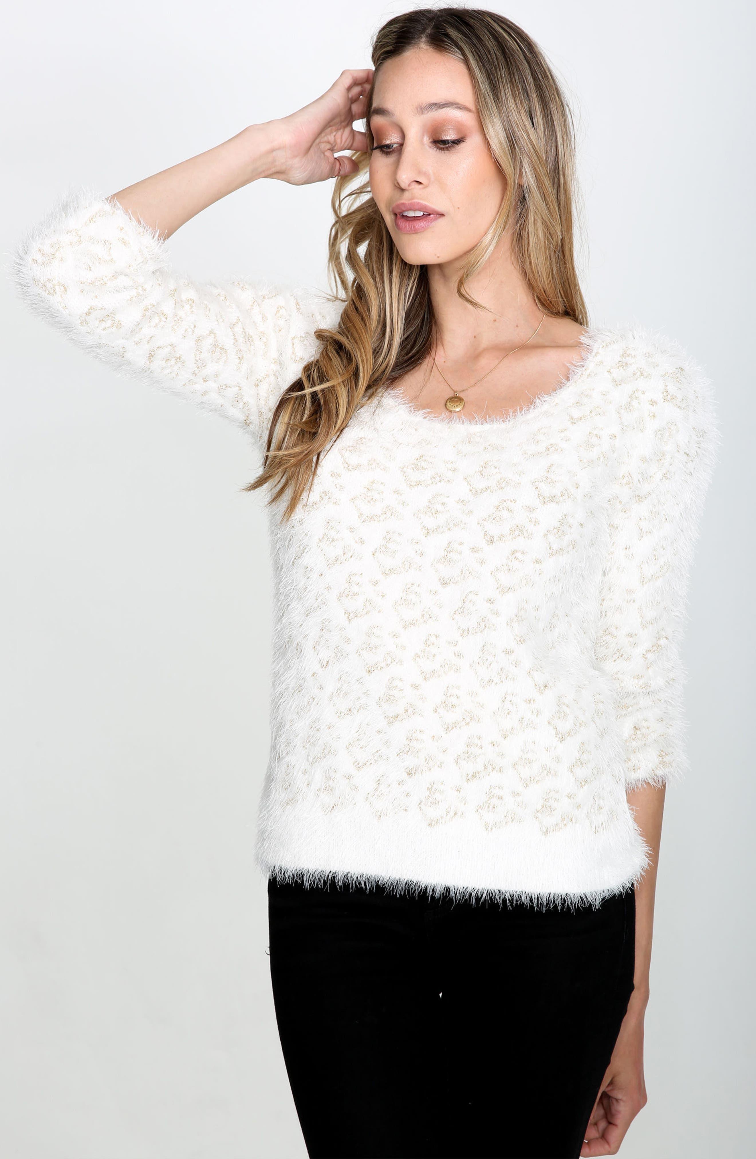 Cassidy Fuzzy Eyelash Sweater,                             Alternate thumbnail 7, color,                             710
