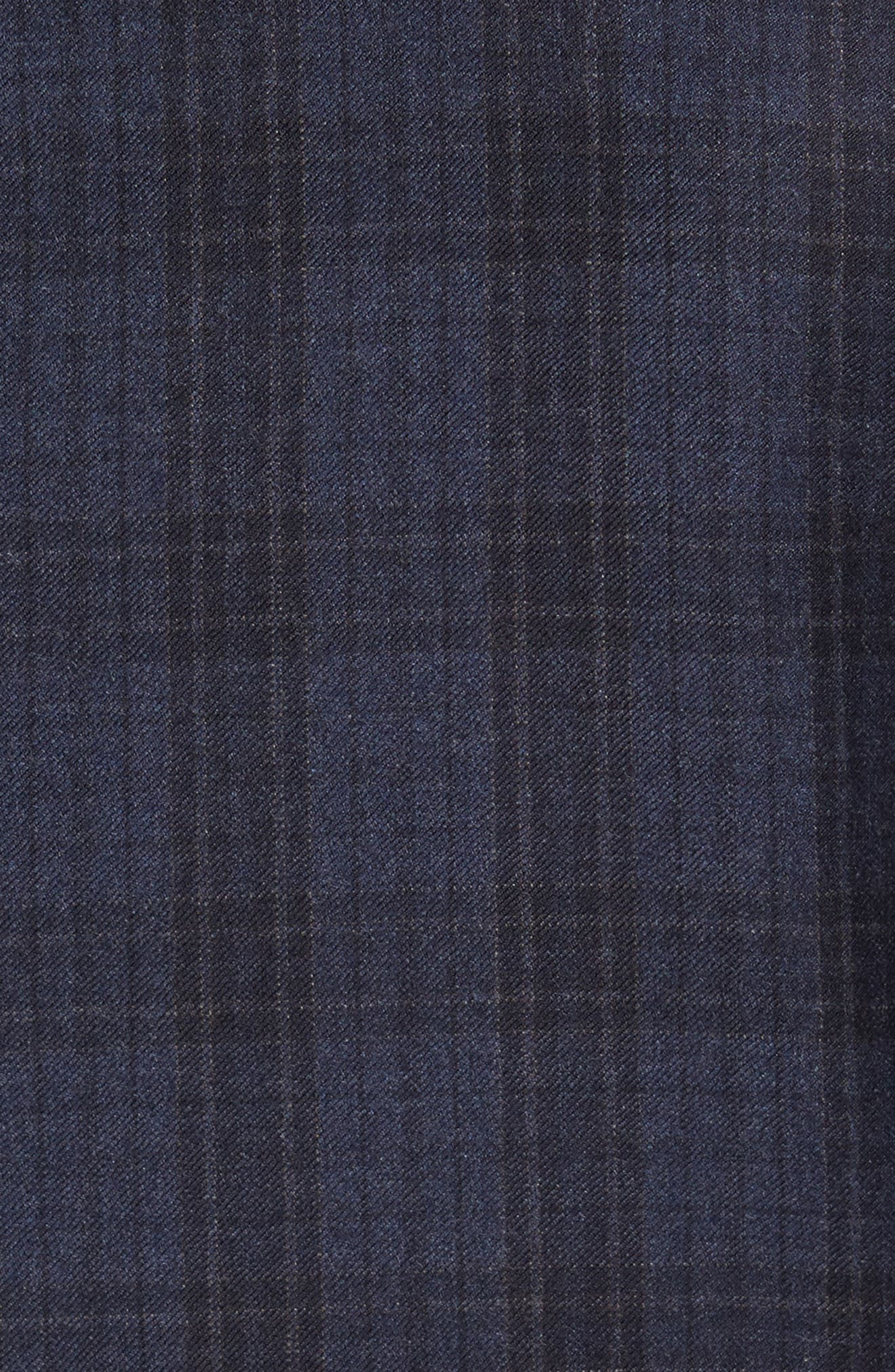 Trim Fit Plaid Wool Sport Coat,                             Alternate thumbnail 6, color,                             400