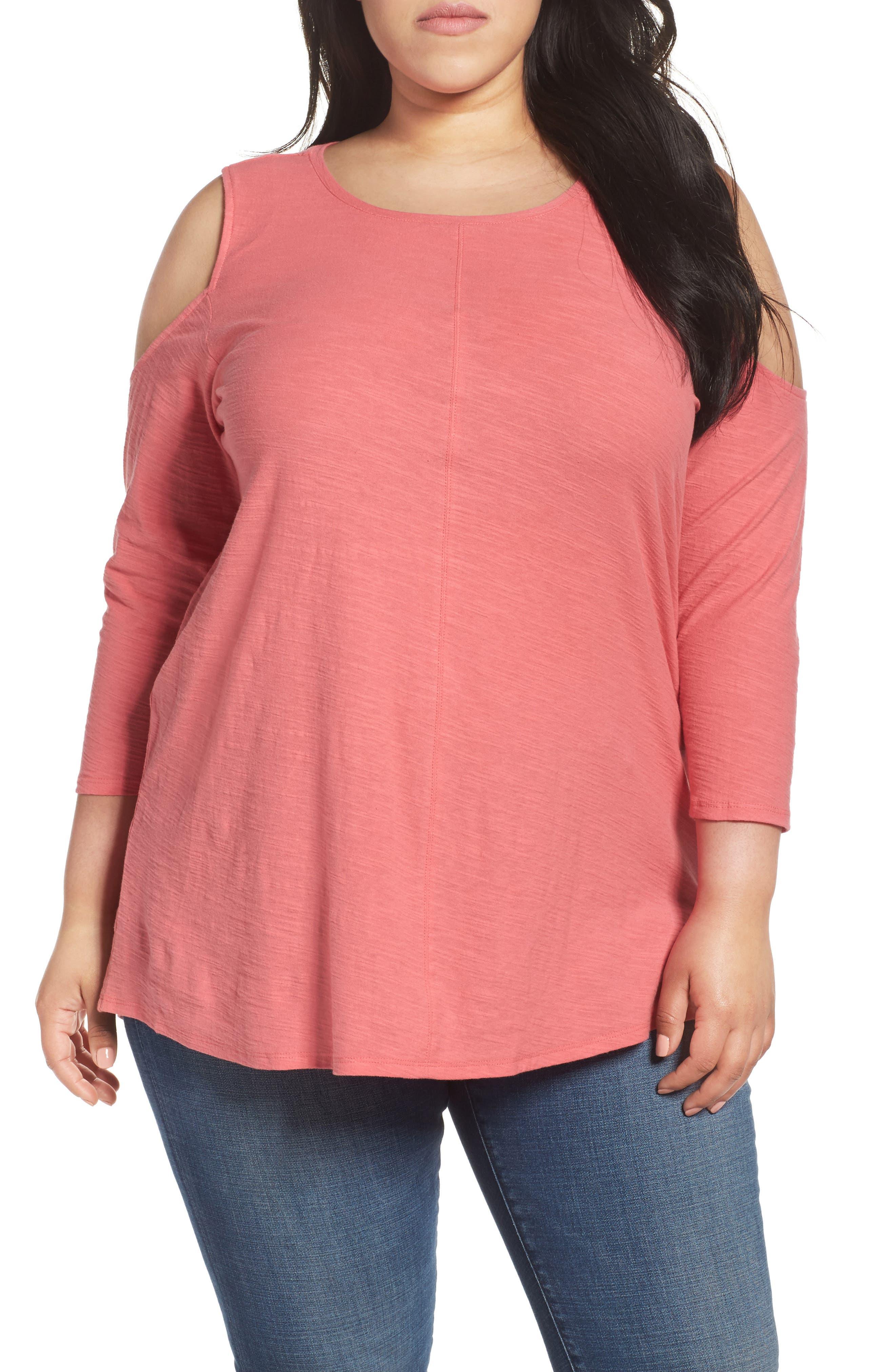 Lightweight Cold Shoulder Top,                         Main,                         color, 685
