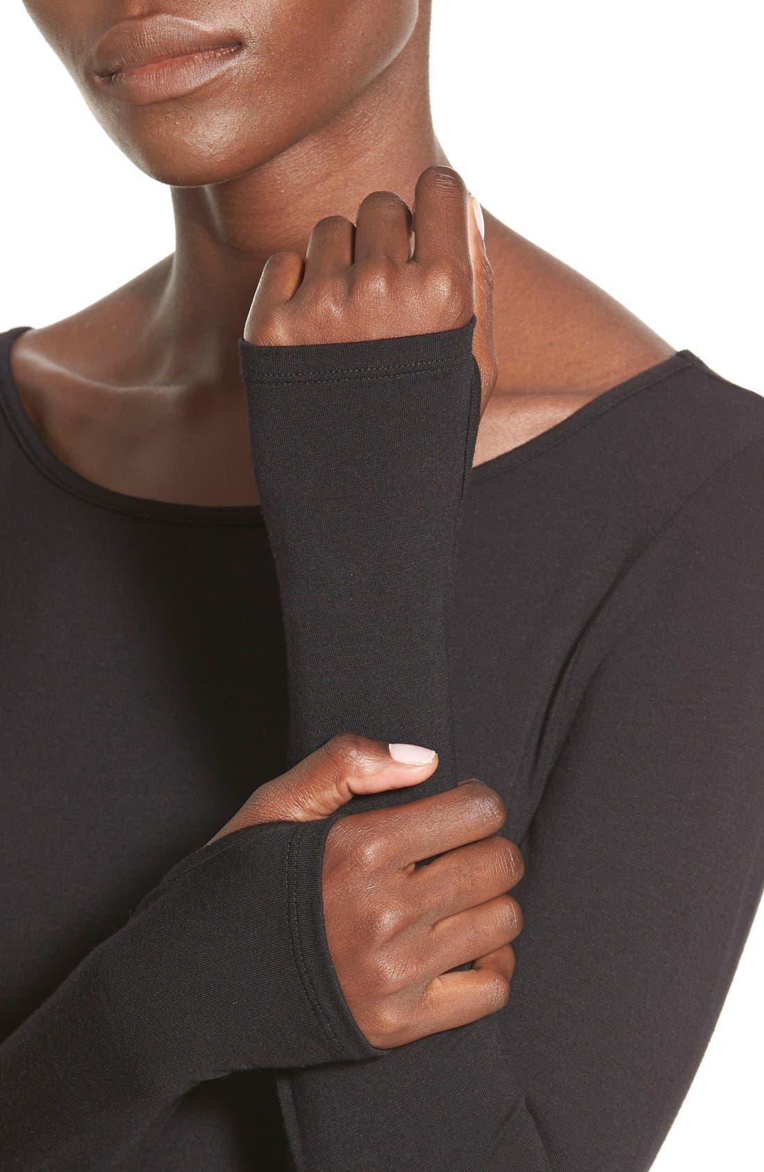 Stripe Long Sleeve Body-Con Dress,                             Alternate thumbnail 2, color,                             001