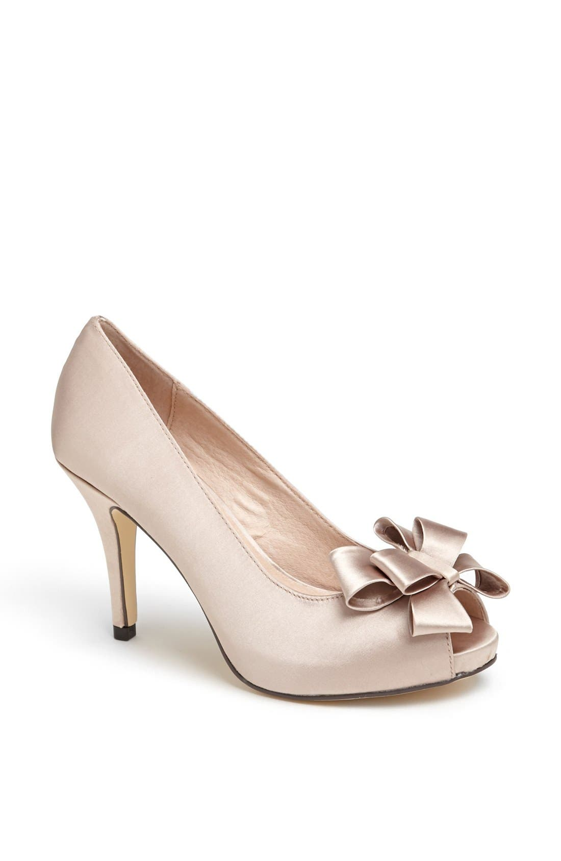 Bow Peep Toe Pump,                             Main thumbnail 1, color,                             021