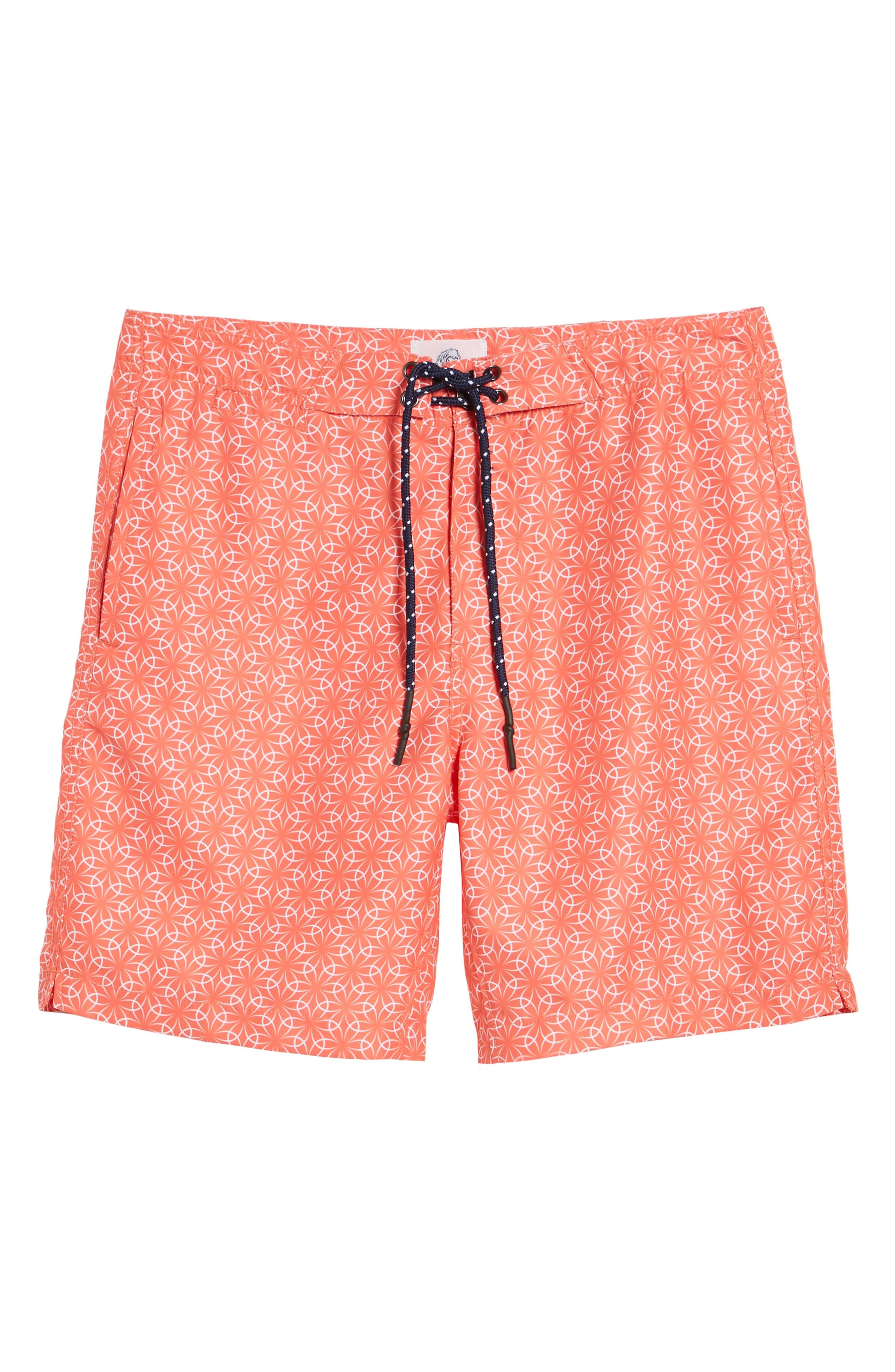 Gradient Flower Board Shorts,                             Alternate thumbnail 6, color,