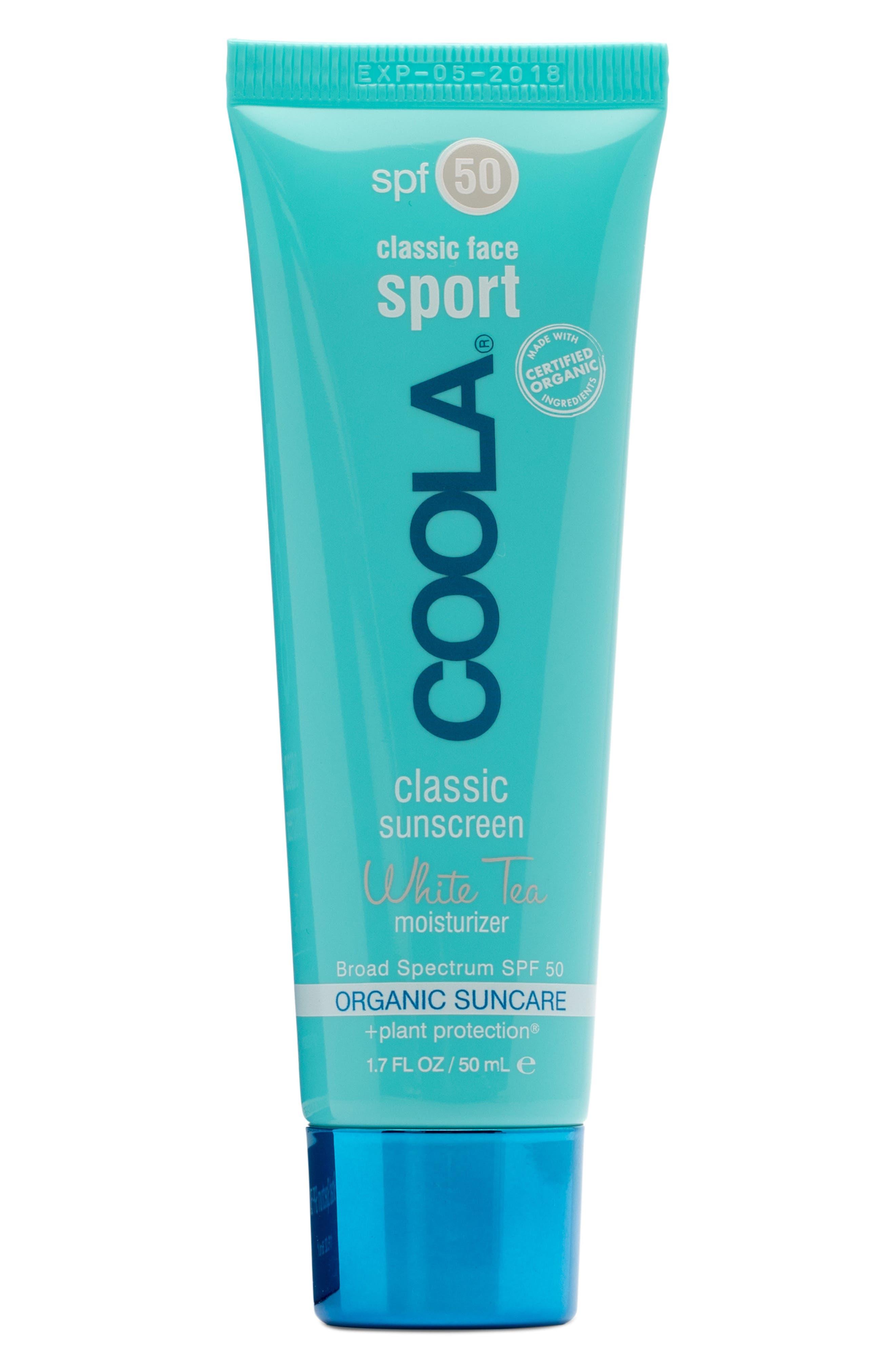 COOLA<sup>®</sup> Suncare White Tea Sport Face Moisturizer SPF 50,                             Alternate thumbnail 2, color,                             NO COLOR