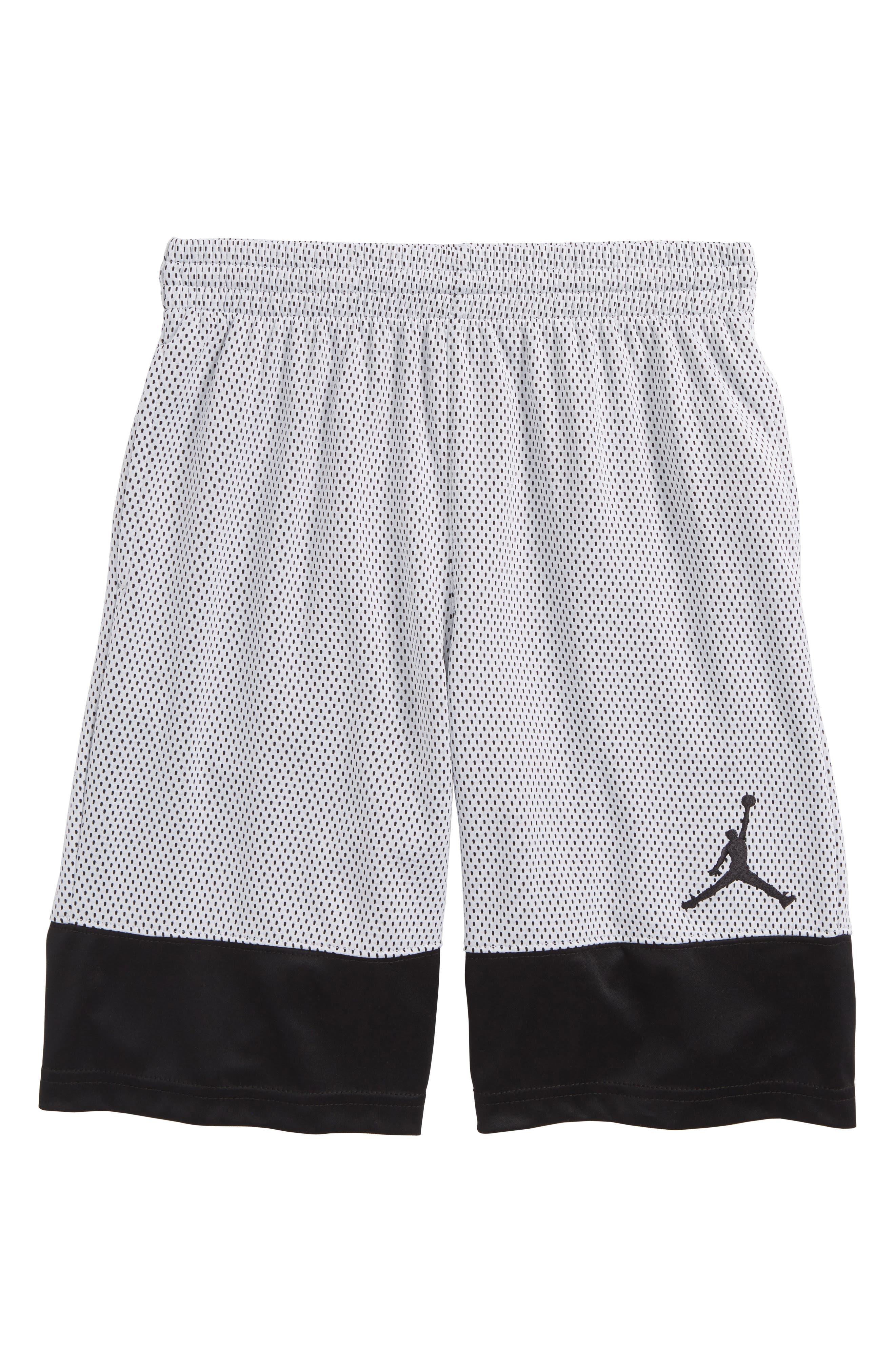 Jordan AJ 90s D2 Mesh Shorts,                             Main thumbnail 1, color,                             001
