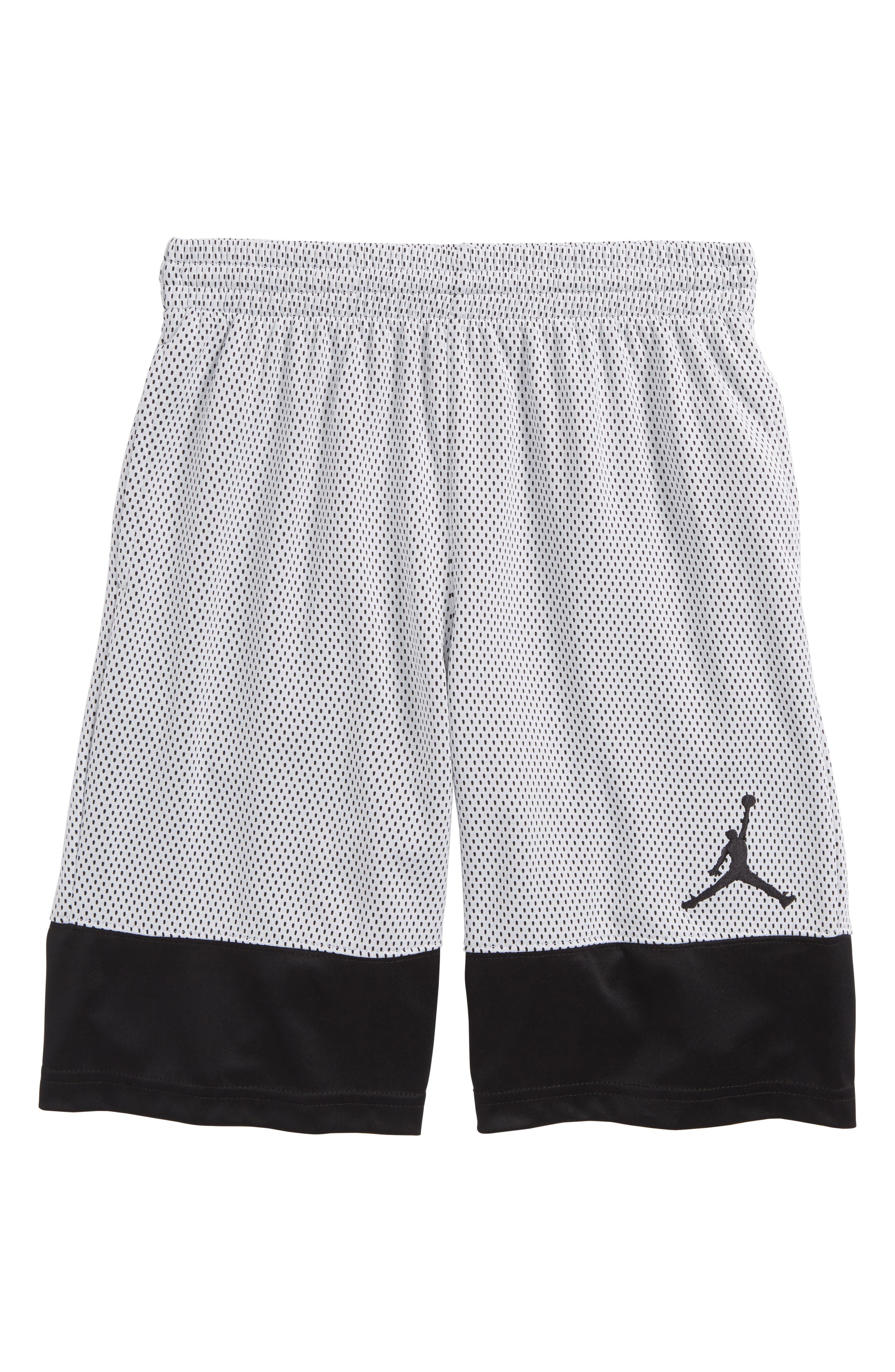 Jordan AJ 90s D2 Mesh Shorts,                         Main,                         color, 001