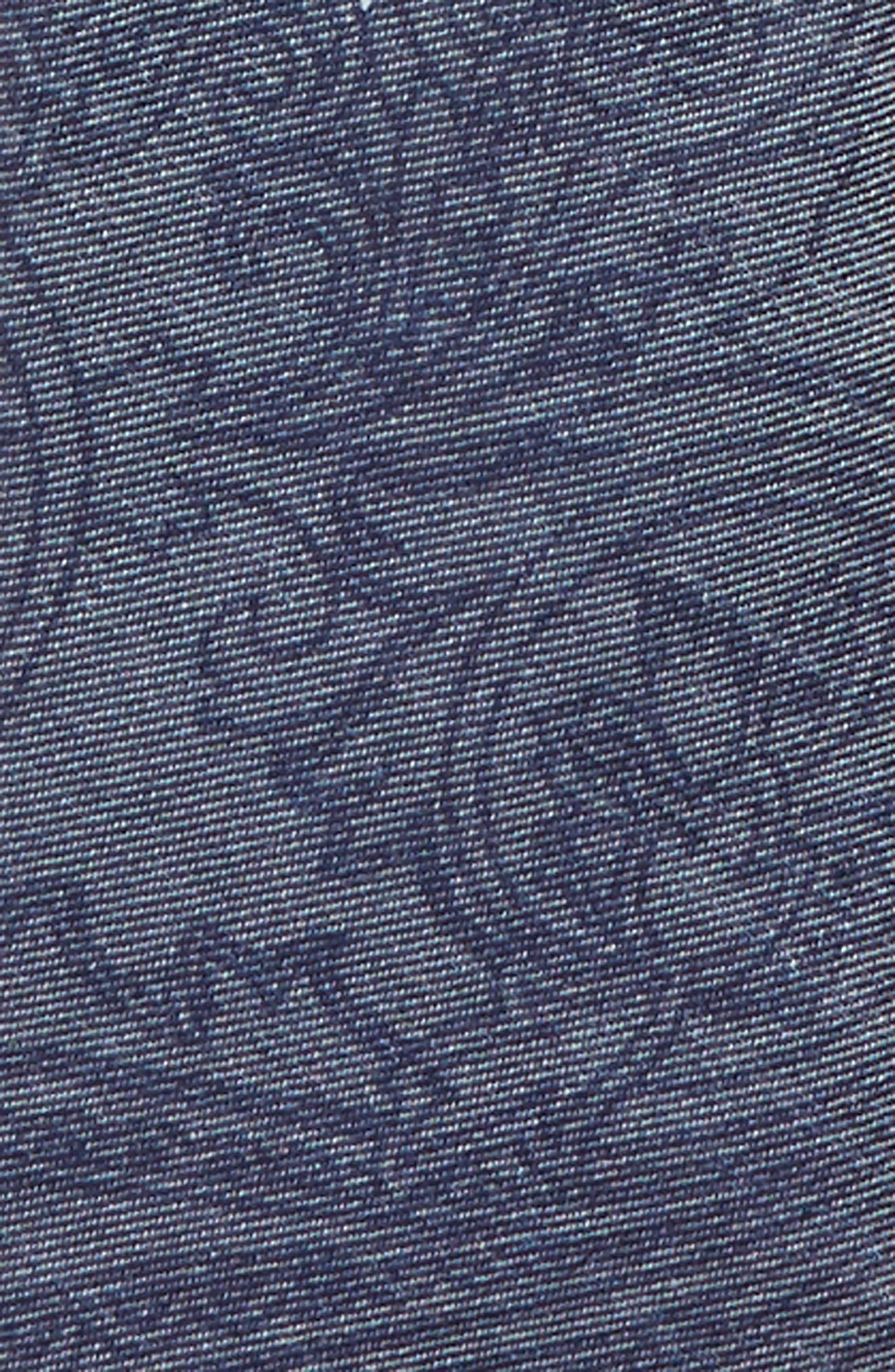 Paisley Cotton Blend Zip Tie,                             Alternate thumbnail 2, color,                             NAVY