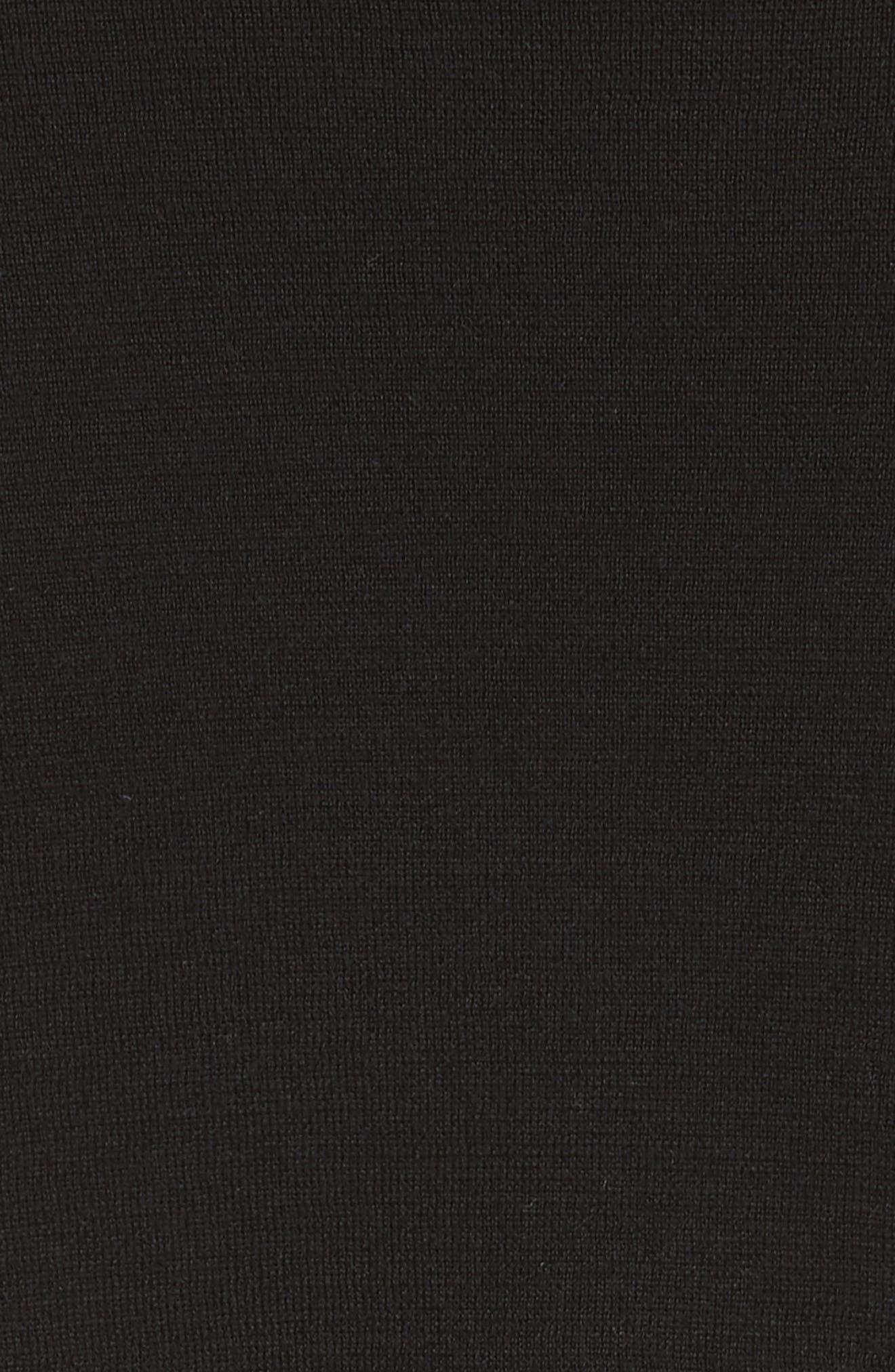 Logan Chain Stripe Mixed Media Bomber,                             Alternate thumbnail 6, color,                             001