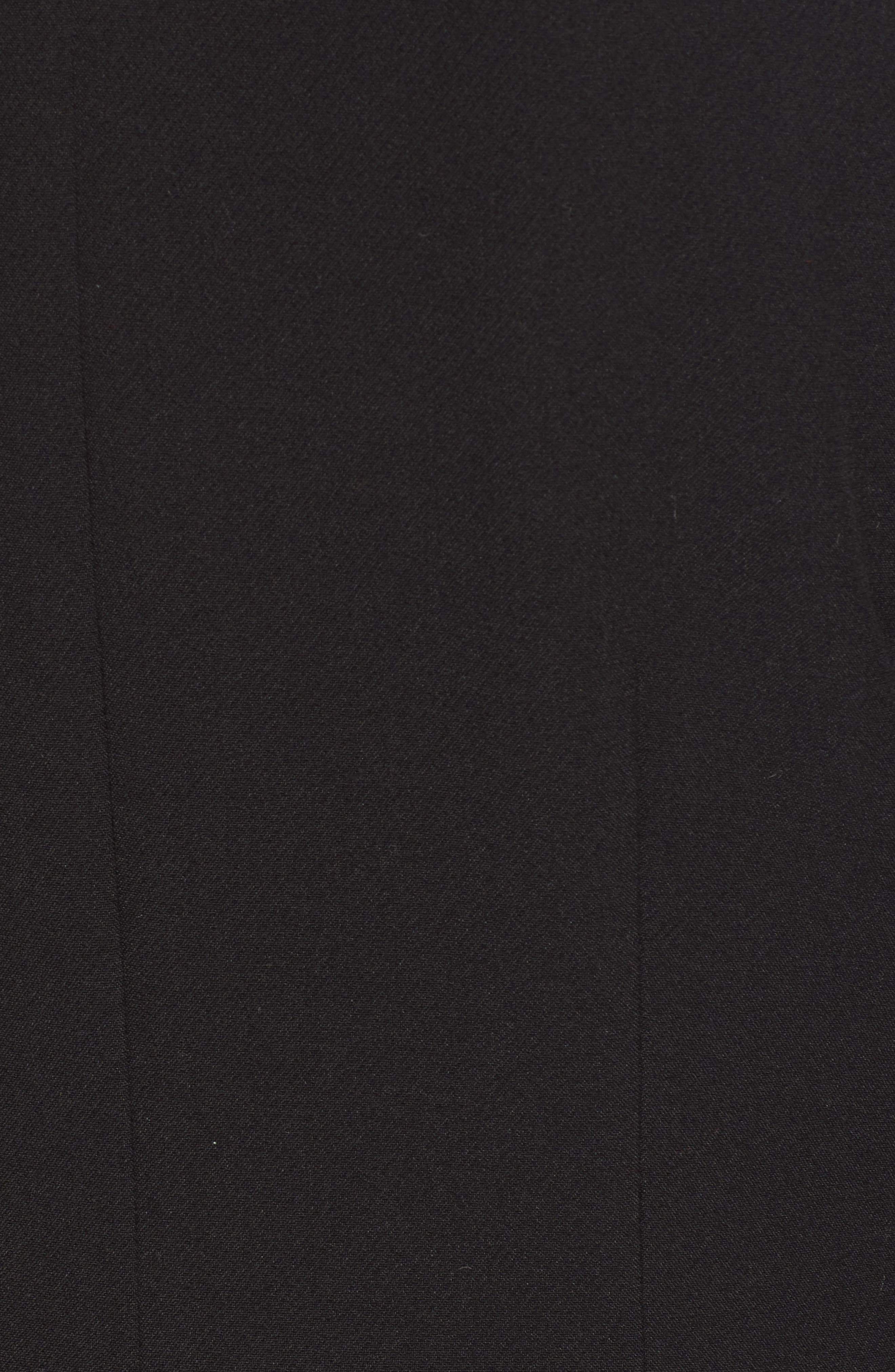 Long Feminine Coat,                             Alternate thumbnail 7, color,                             BLACK