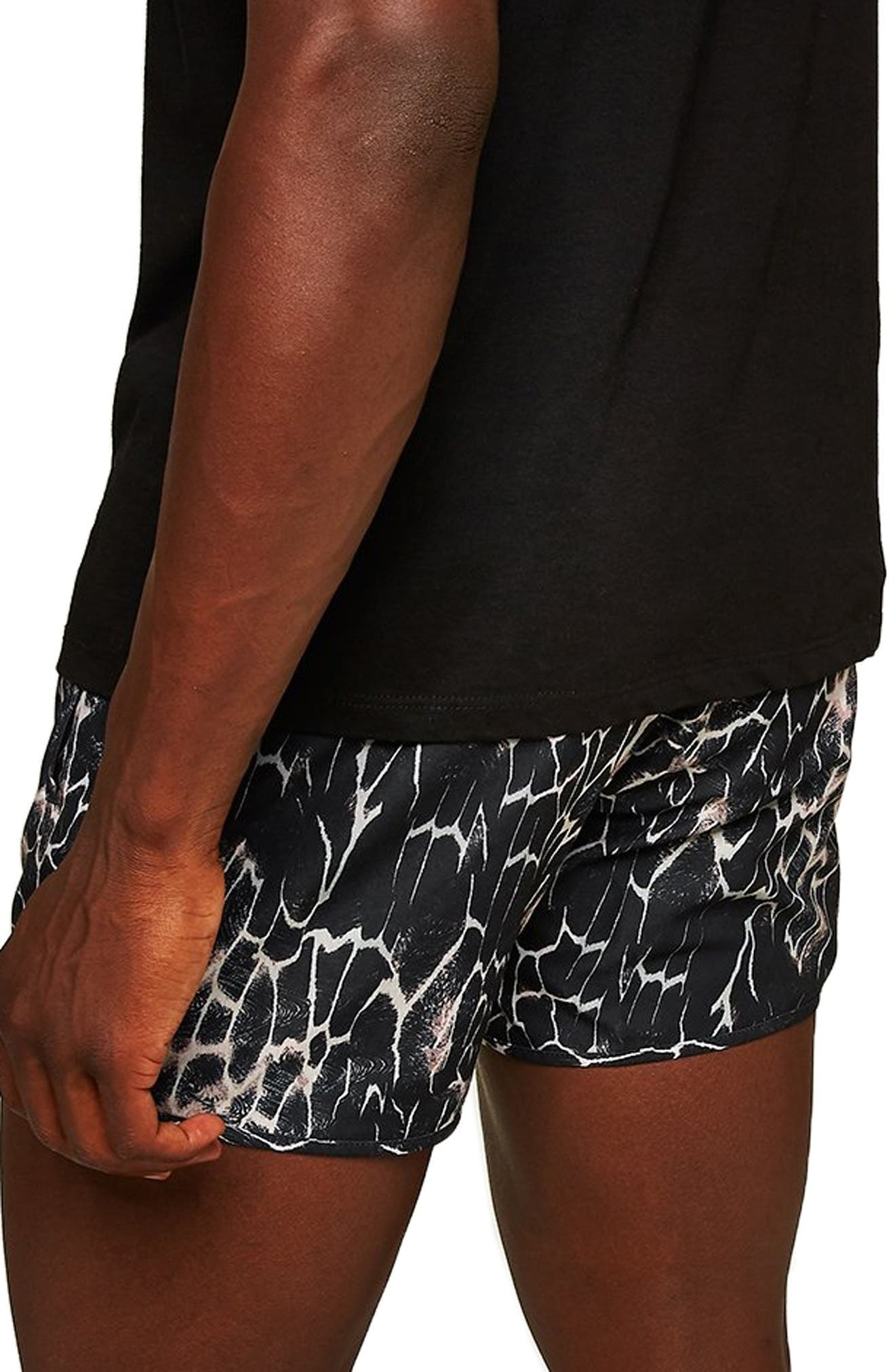 Marble Munday Print Swim Trunks,                             Alternate thumbnail 2, color,                             001