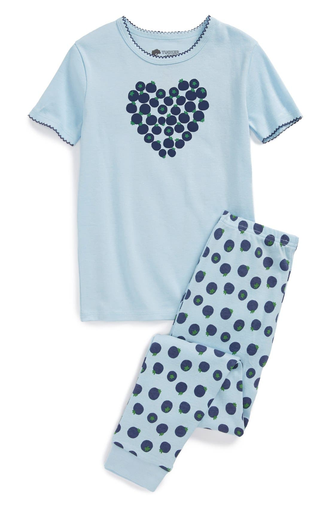 Two-Piece Fitted Pajamas,                             Main thumbnail 2, color,