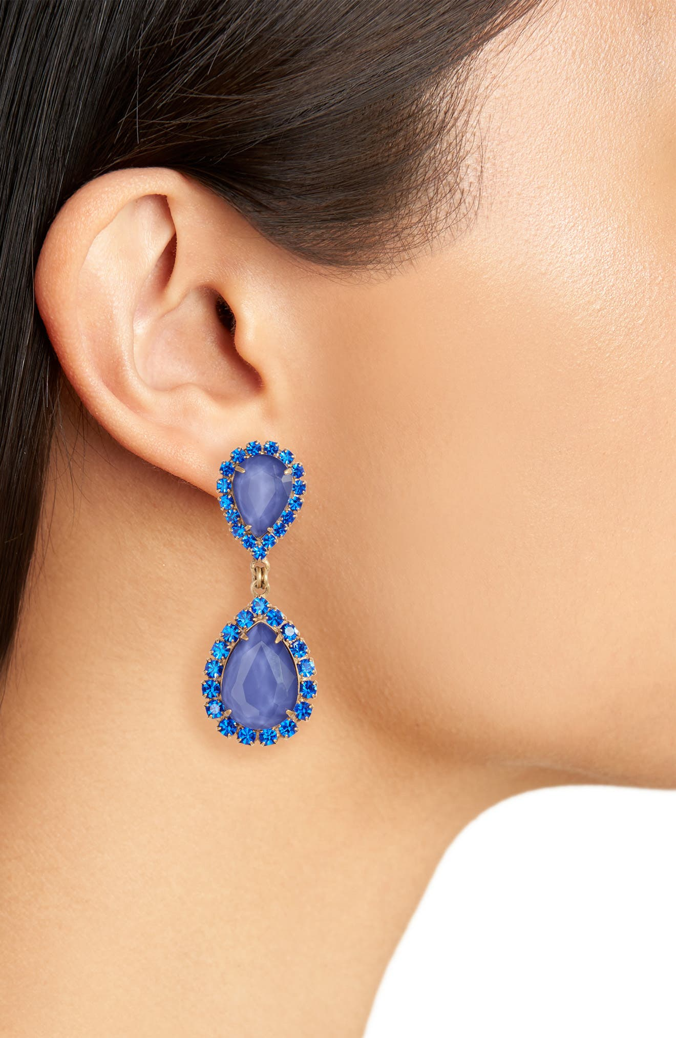 Abba Crystal Drop Earrings,                             Alternate thumbnail 2, color,                             SAPPHIRE