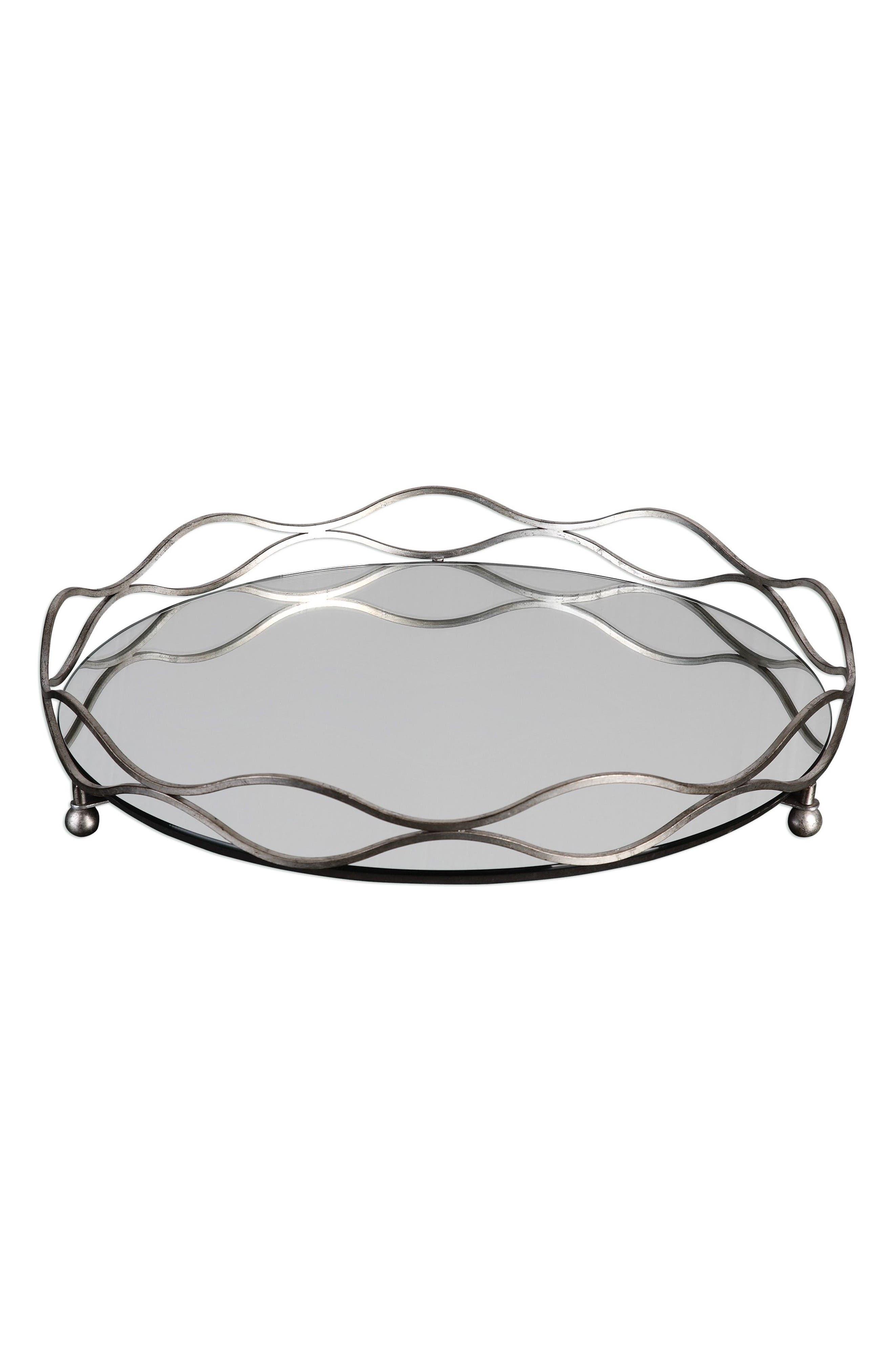 Mirrored Tray,                             Main thumbnail 1, color,                             040