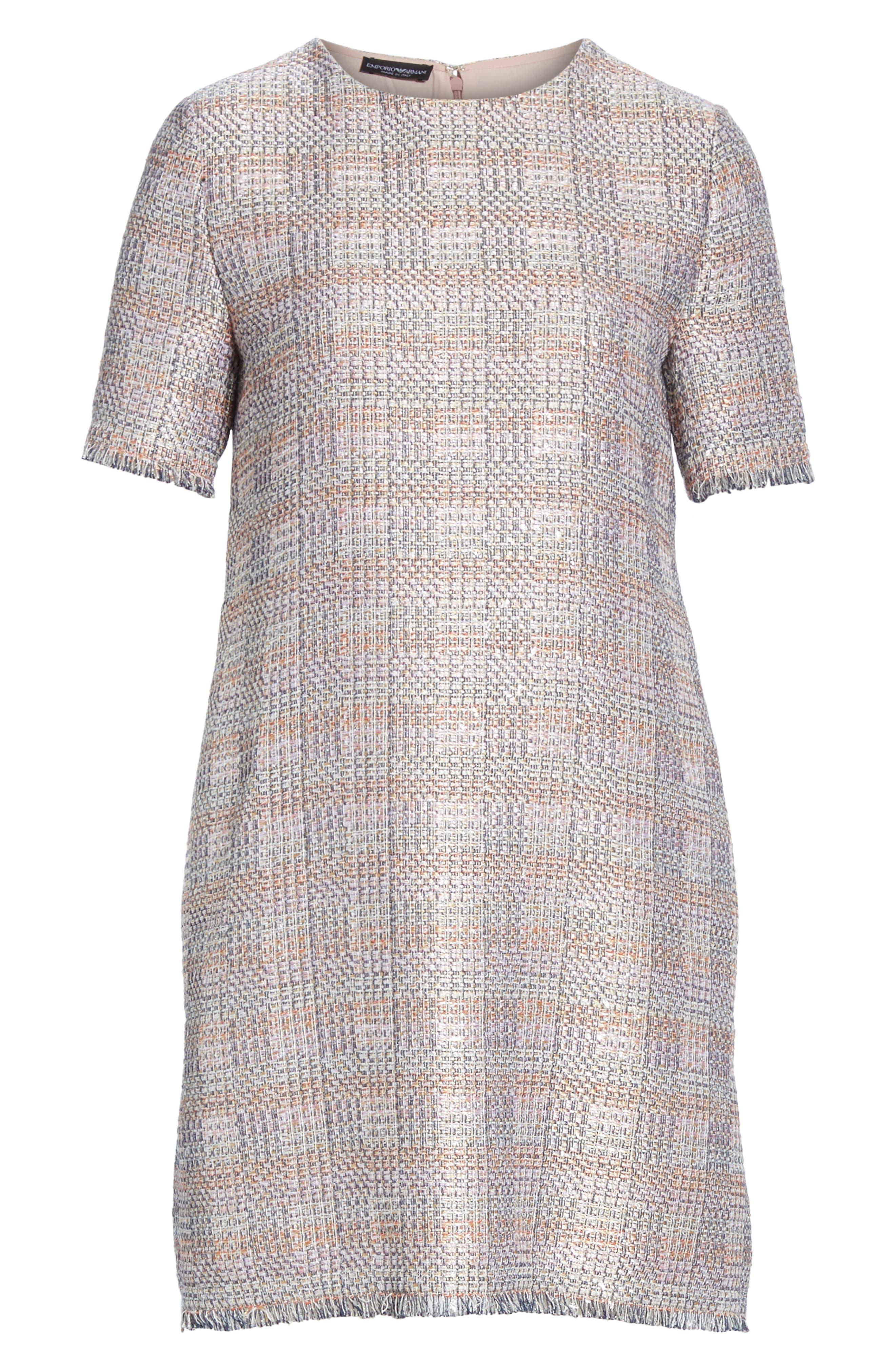 Check Woven Dress,                             Alternate thumbnail 6, color,                             MULTICOLOR