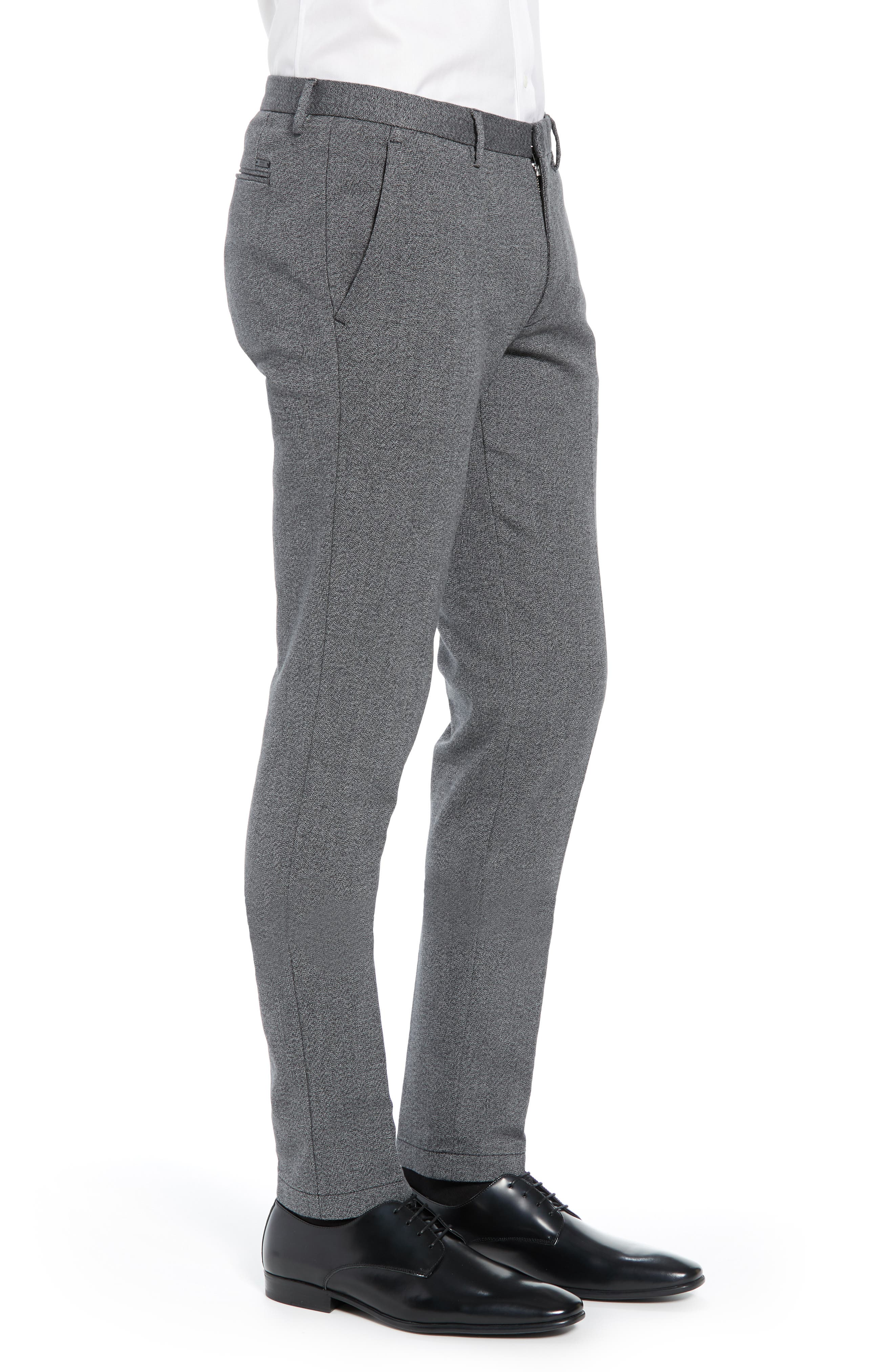 Kaito Slim Fit Twill Trousers,                             Alternate thumbnail 3, color,                             BLACK