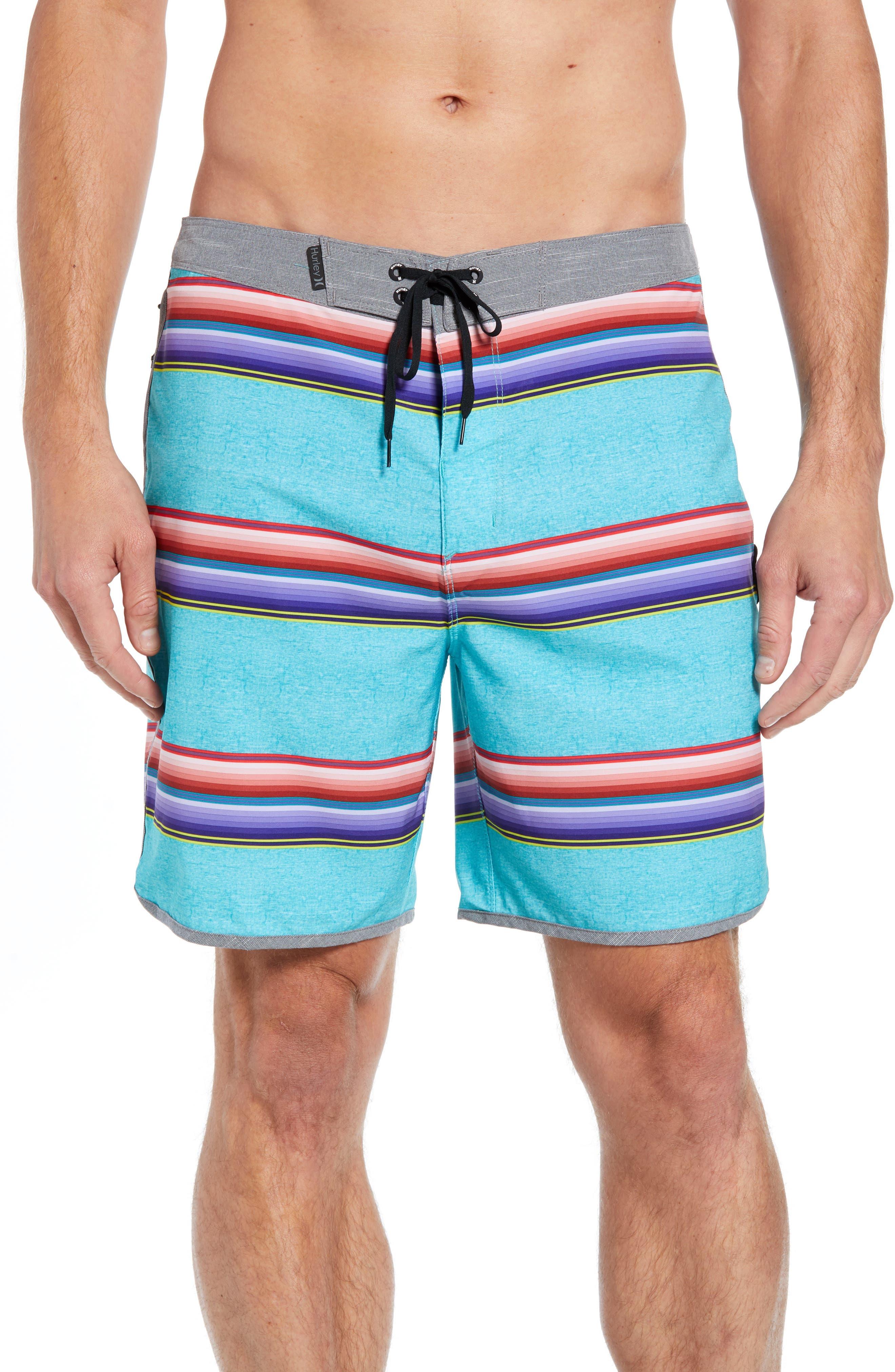 Phantom Serape Board Shorts,                         Main,                         color, AURORA GREEN