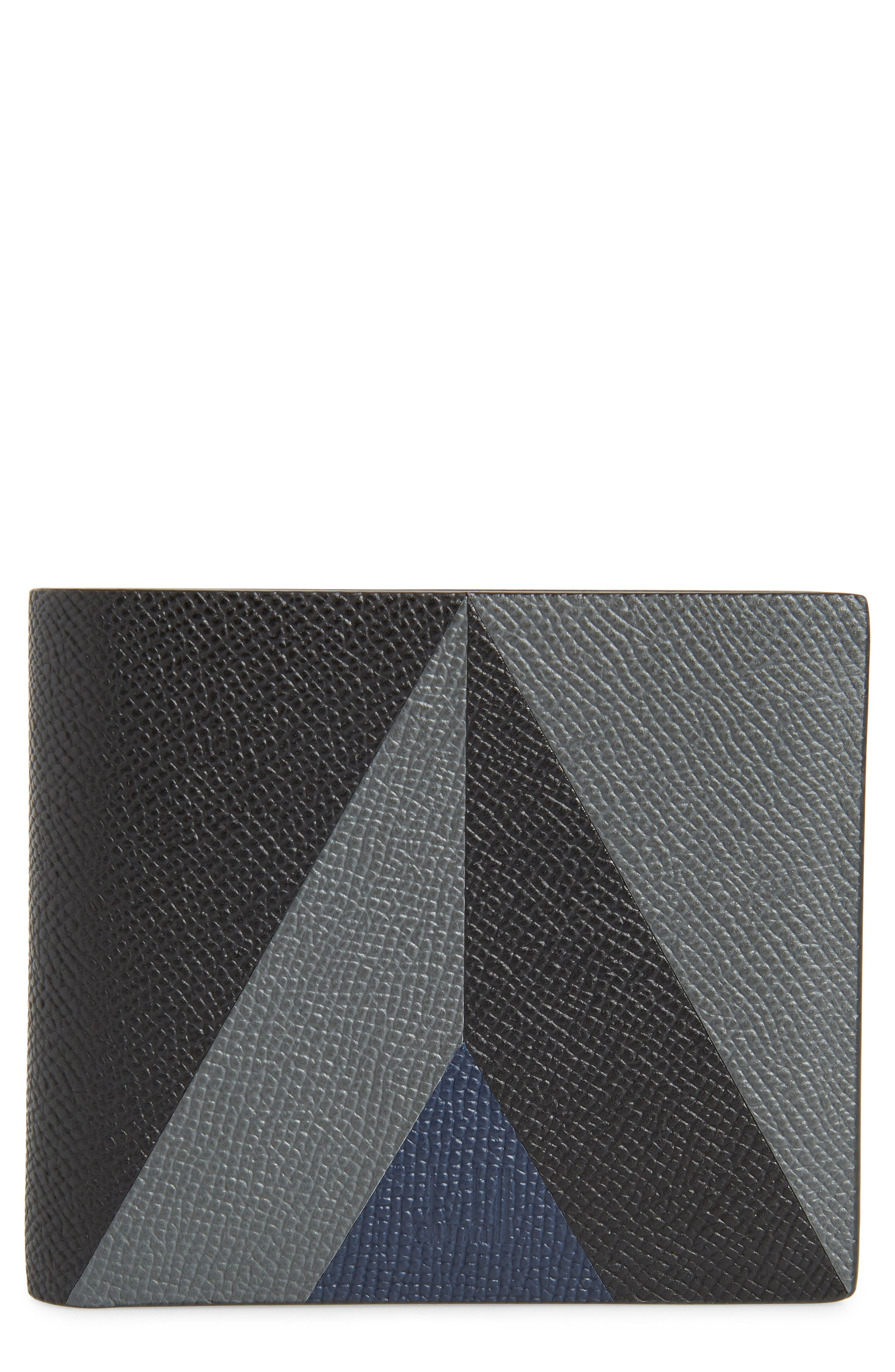 Cadogan Leather Wallet,                             Main thumbnail 1, color,                             BLACK