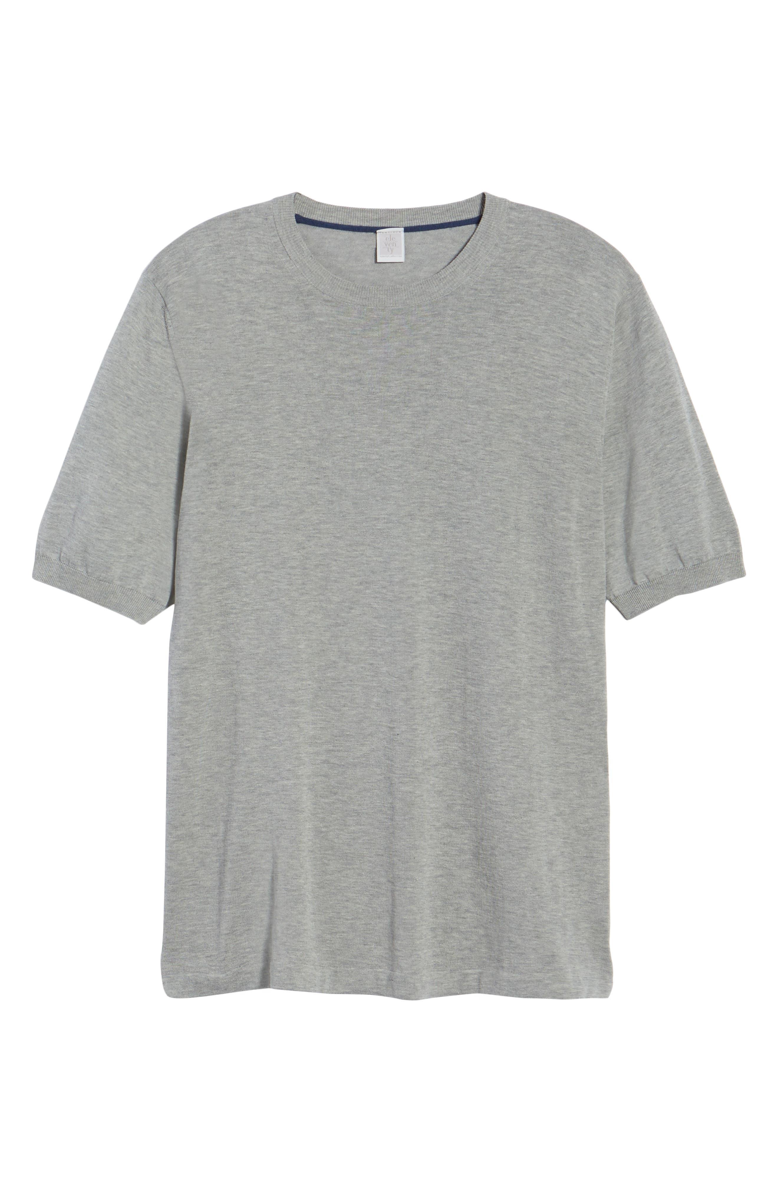 Fresco Crewneck Cotton T-Shirt,                             Alternate thumbnail 6, color,                             021