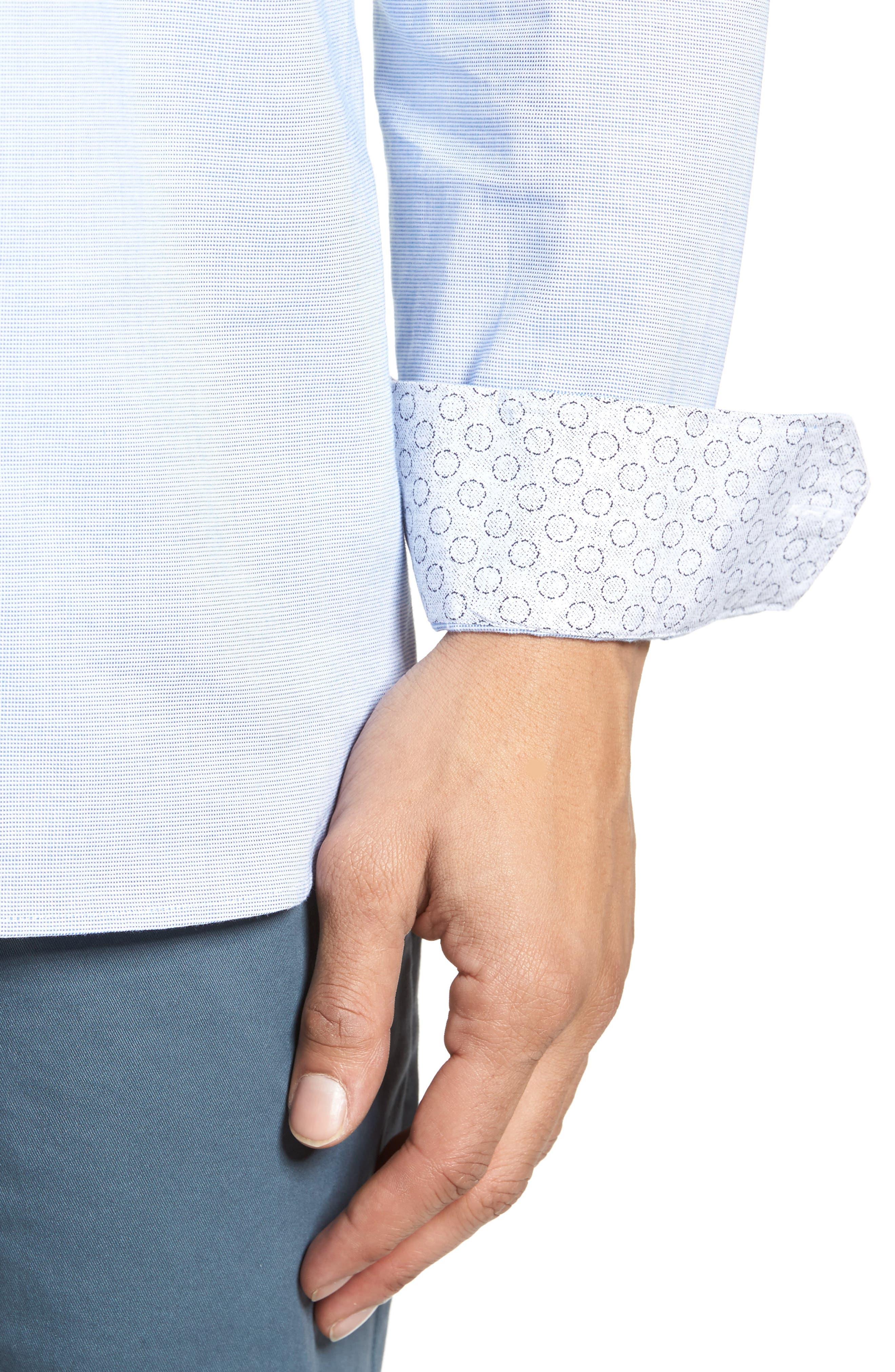 Slim Fit Textured Sport Shirt,                             Alternate thumbnail 18, color,